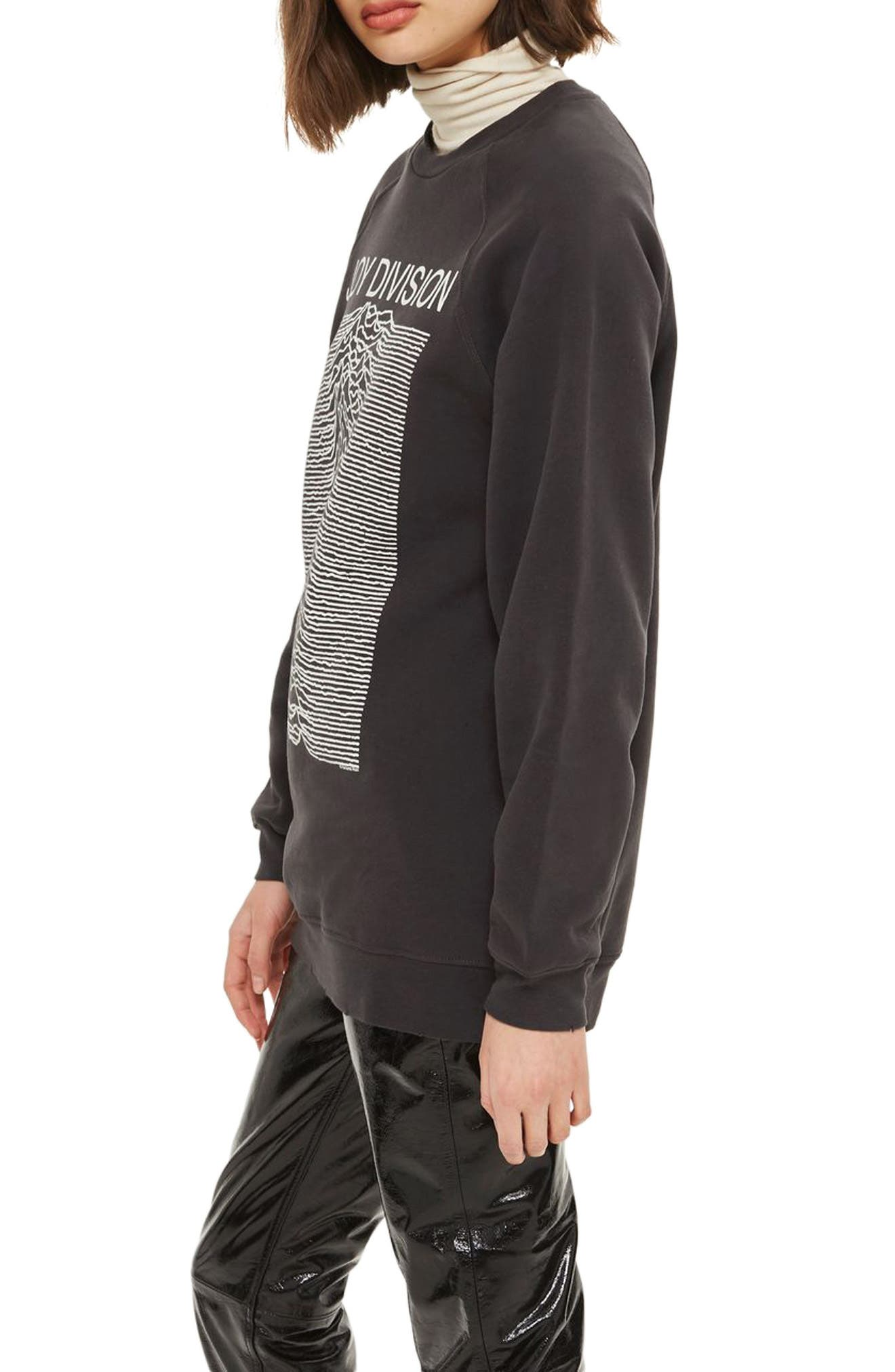 by And Finally Joy Division Sweatshirt,                             Alternate thumbnail 3, color,                             001