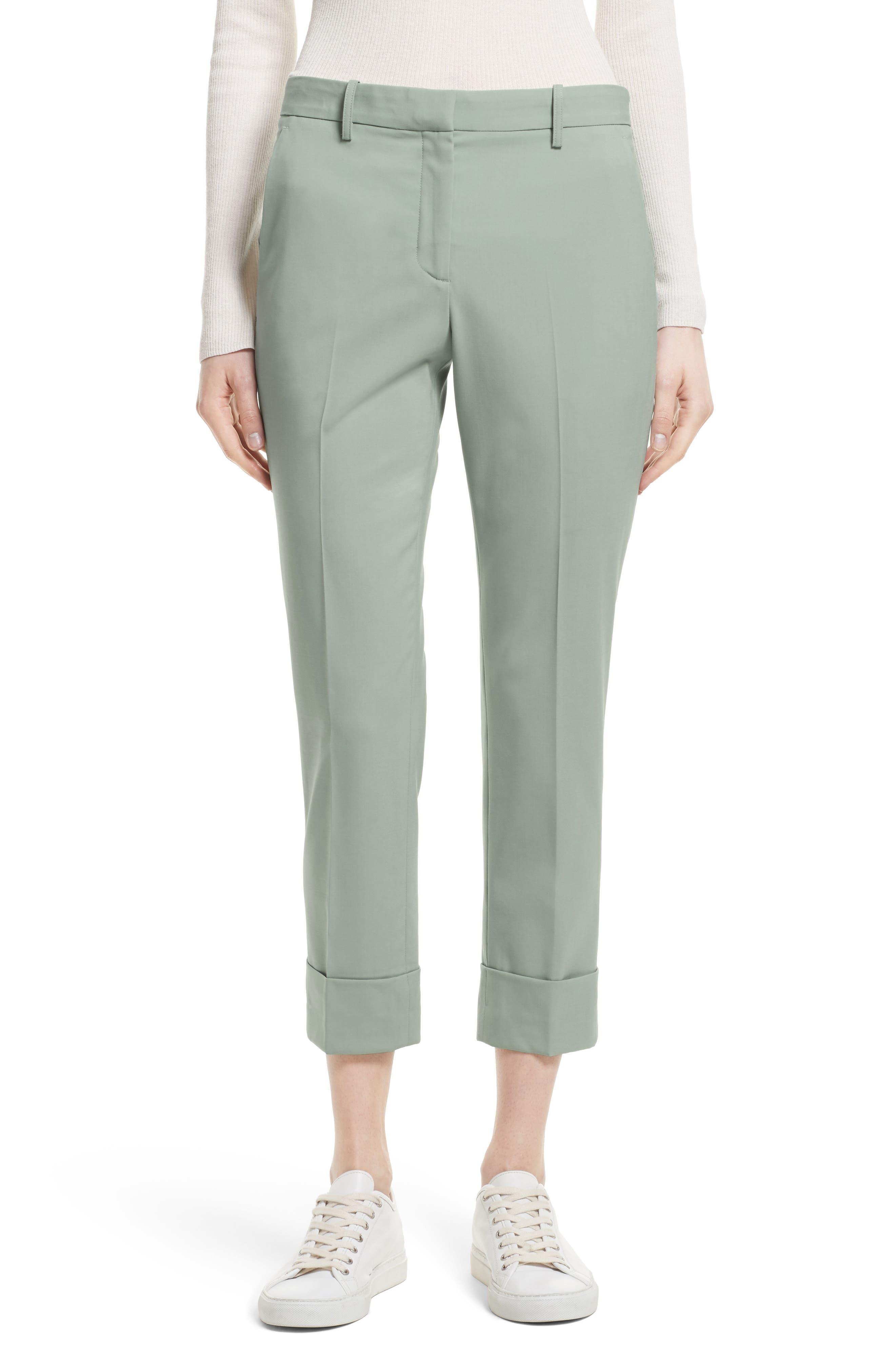 Stretch Wool Crop Pants,                             Main thumbnail 1, color,                             392