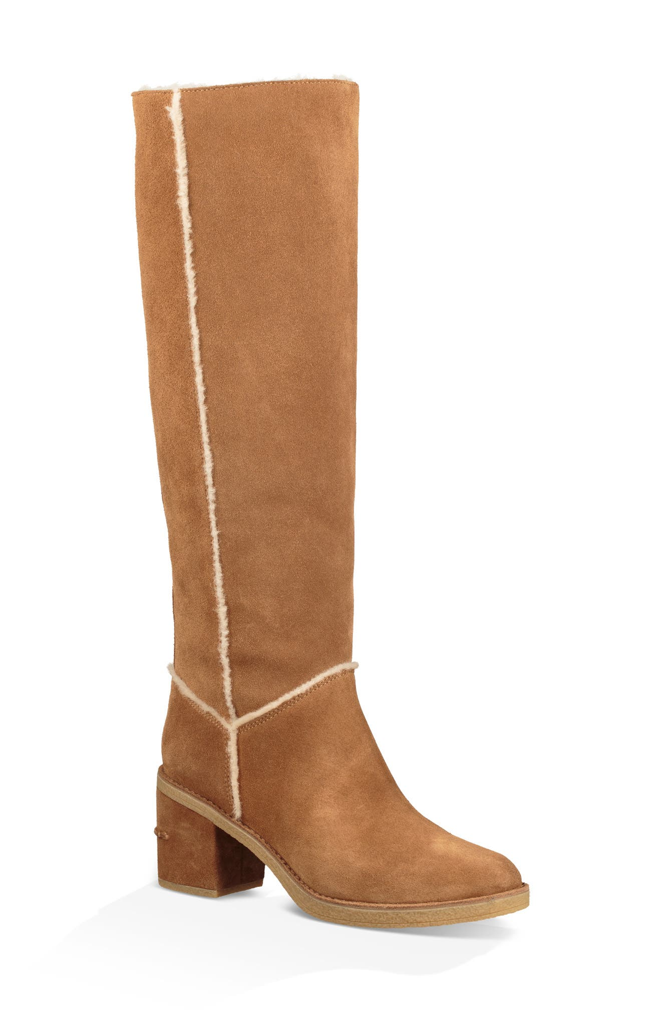 Kasen II Knee High Boot,                             Main thumbnail 1, color,                             CHESTNUT SUEDE