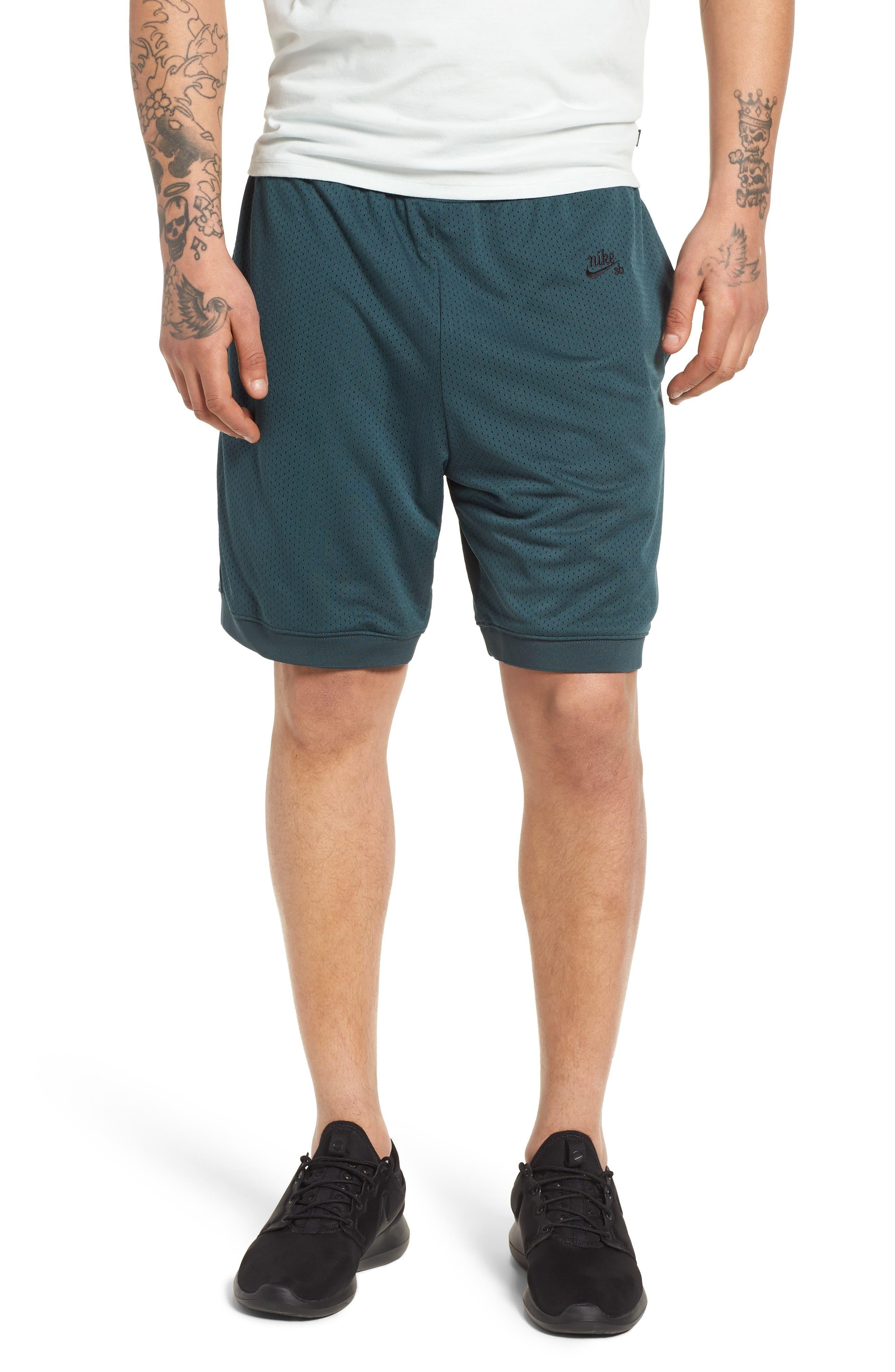 SB Dry Heritage Court Shorts,                             Main thumbnail 1, color,                             DEEP JUNGLE/ BLACK