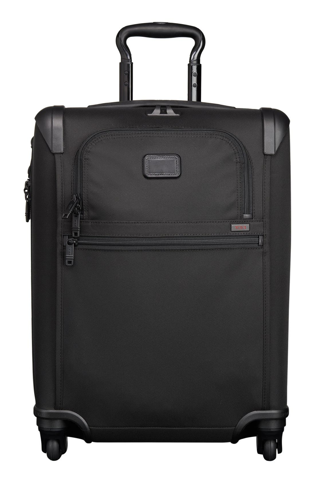 Alpha 2 Continental 22-Inch Carry-On,                             Main thumbnail 1, color,                             BLACK