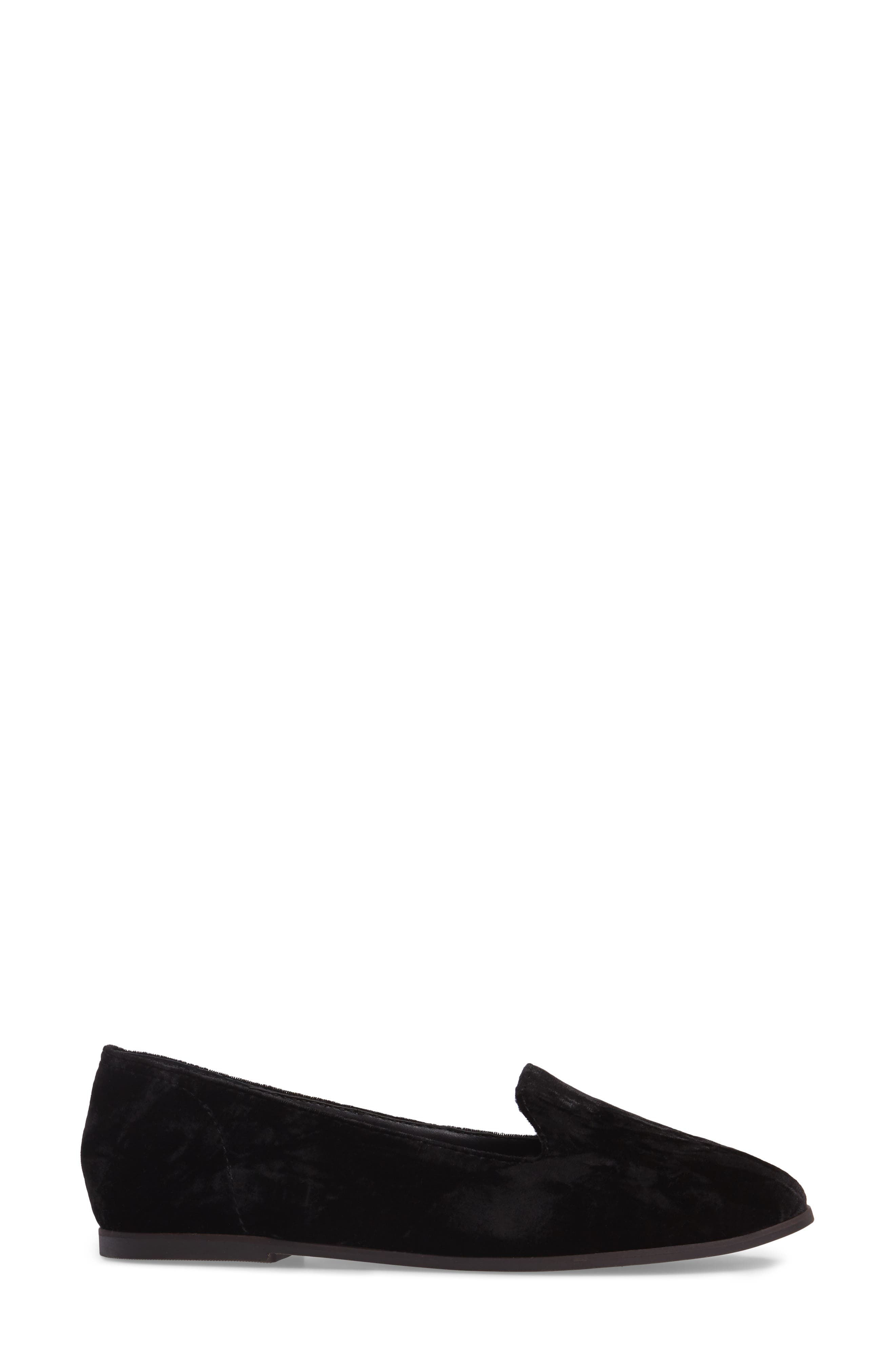 Carlyn Loafer Flat,                             Alternate thumbnail 3, color,                             001