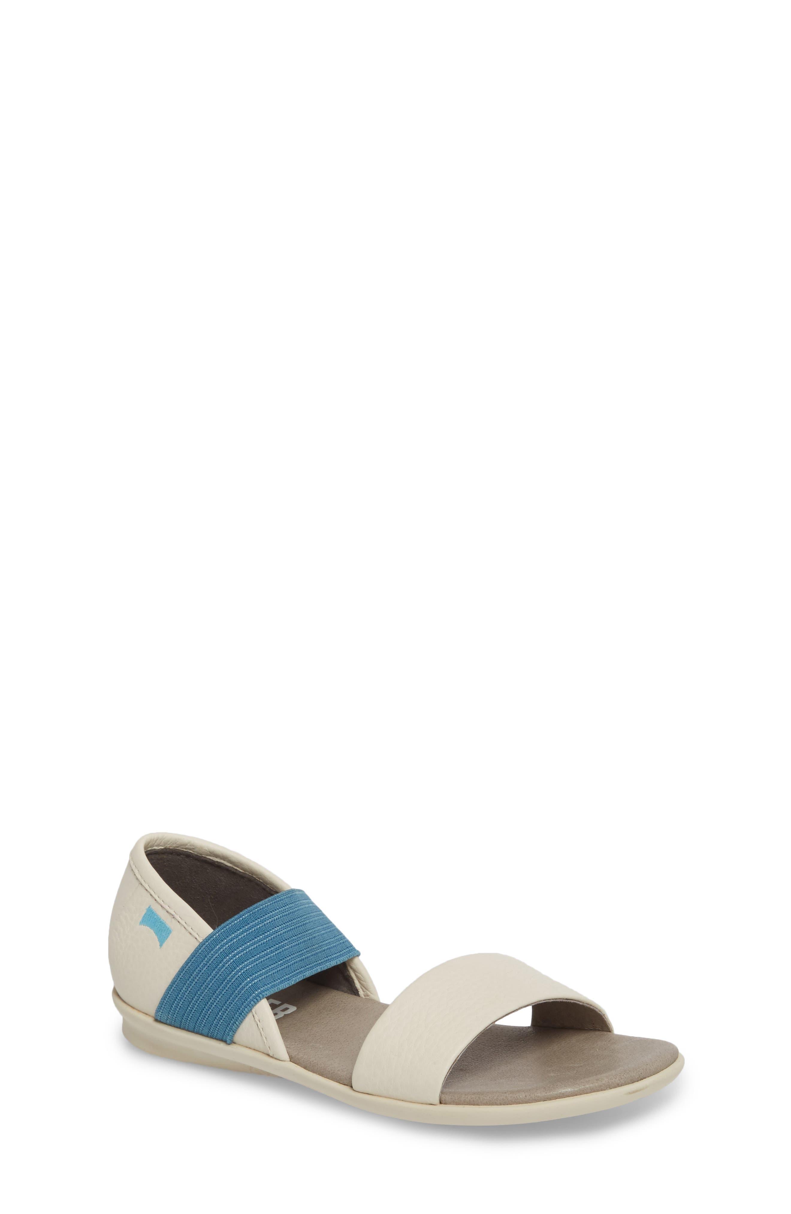 Right Sandal,                             Main thumbnail 1, color,                             WHITE