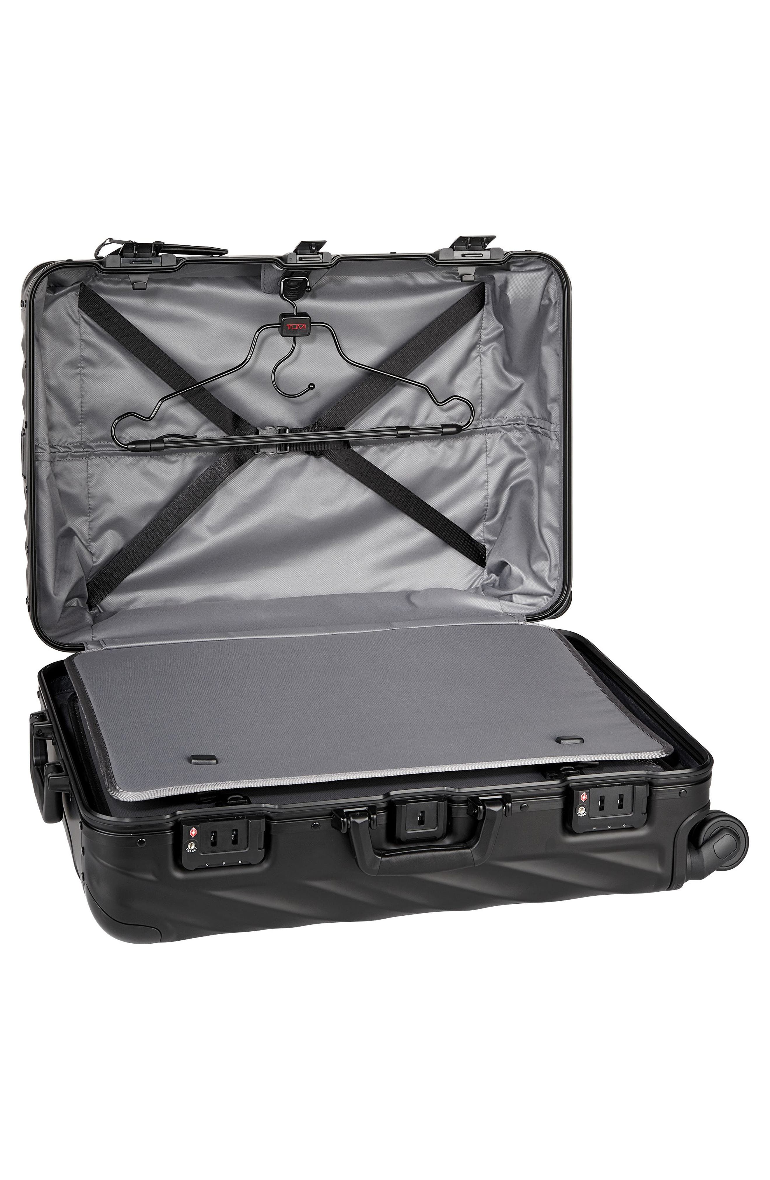 19-Degree Collection 26-Inch Wheeled Aluminum Short Trip Packing Case,                             Alternate thumbnail 5, color,                             MATTE BLACK