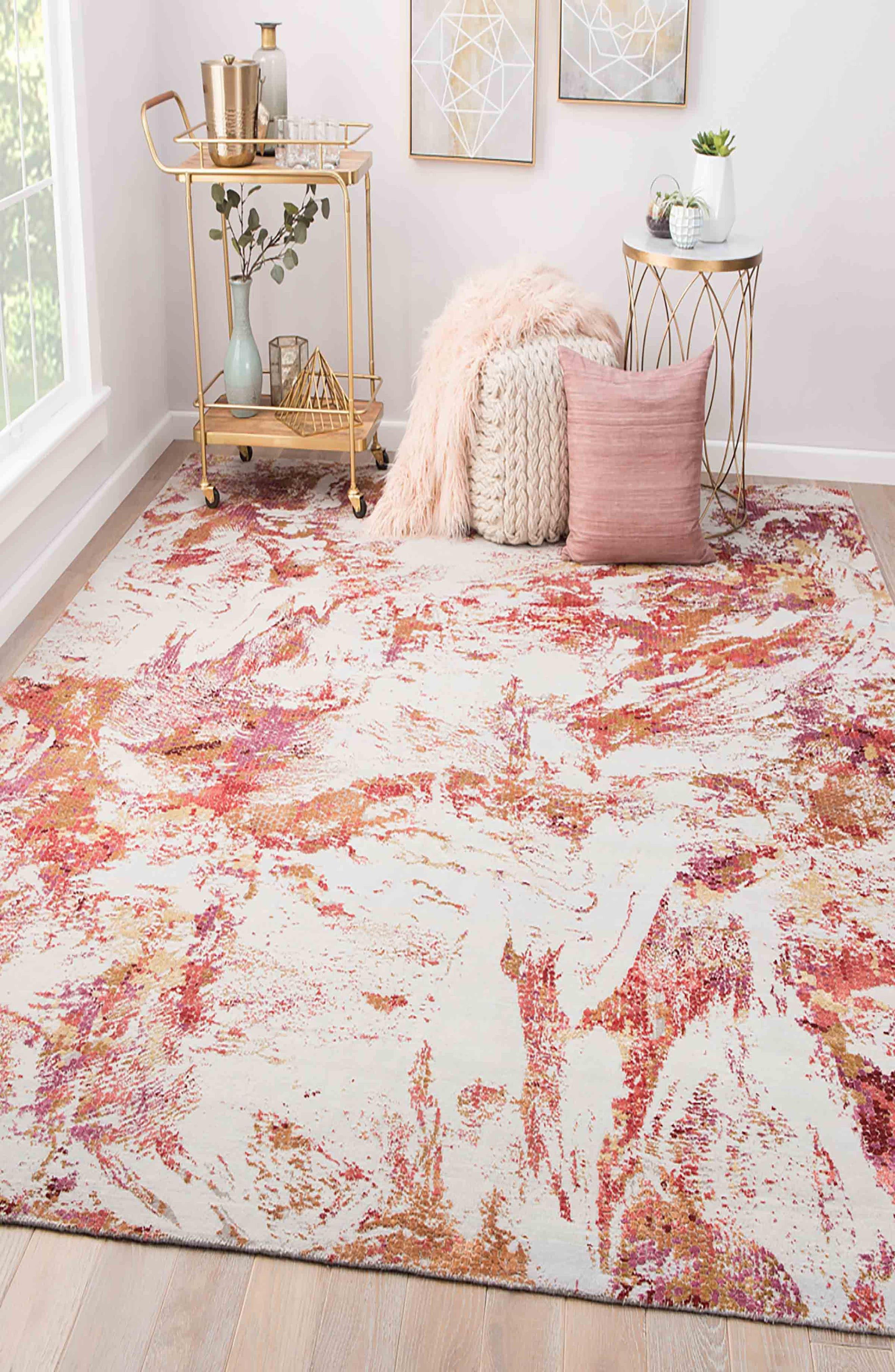 Unstring Rug,                             Alternate thumbnail 5, color,                             PINK