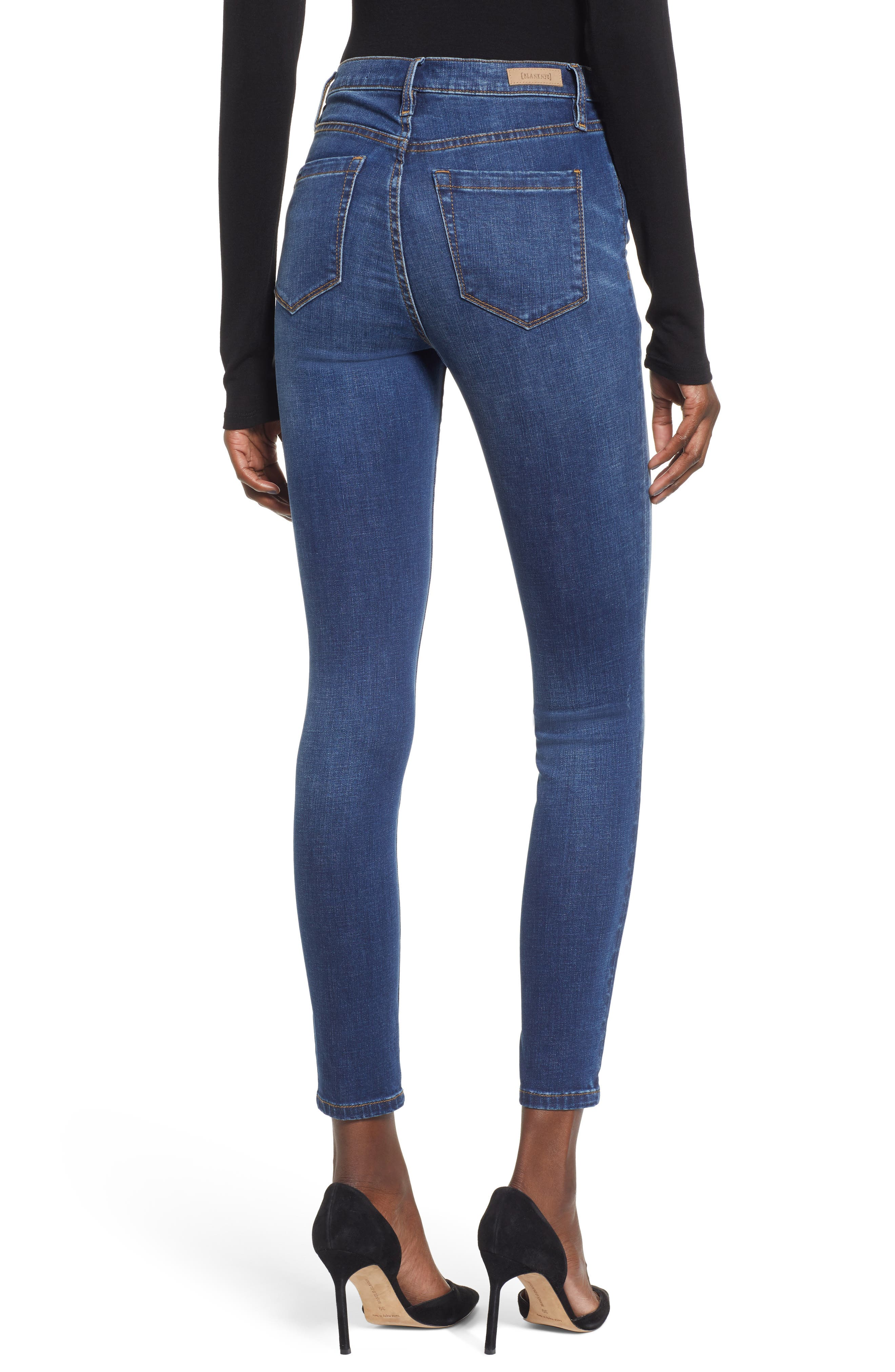 High Waist Skinny Jeans,                             Alternate thumbnail 2, color,                             ROUGH RIDER