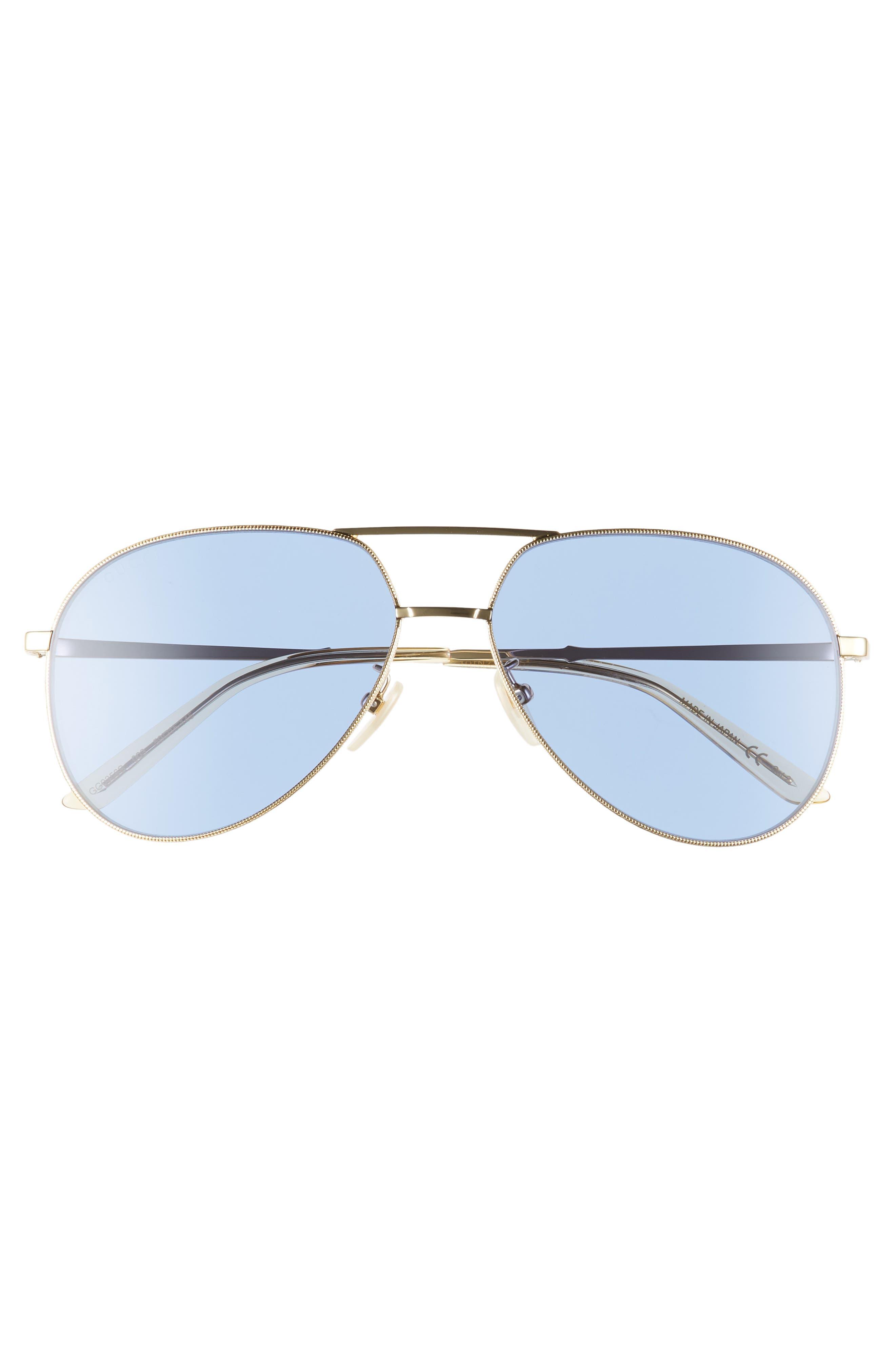 59mm Metal Aviator Sunglasses,                             Alternate thumbnail 3, color,                             712