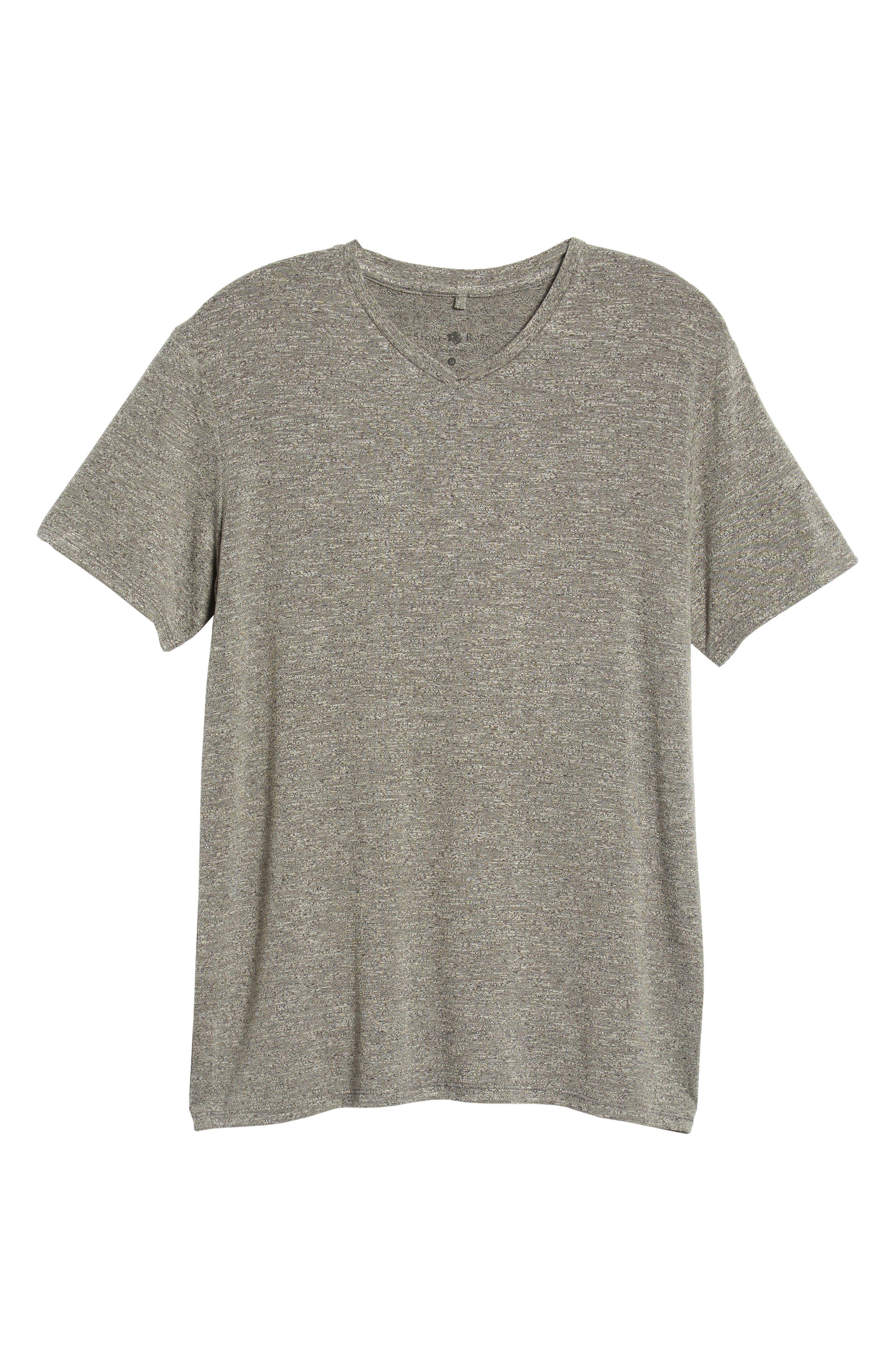V-Neck T-Shirt,                             Alternate thumbnail 6, color,                             GREY