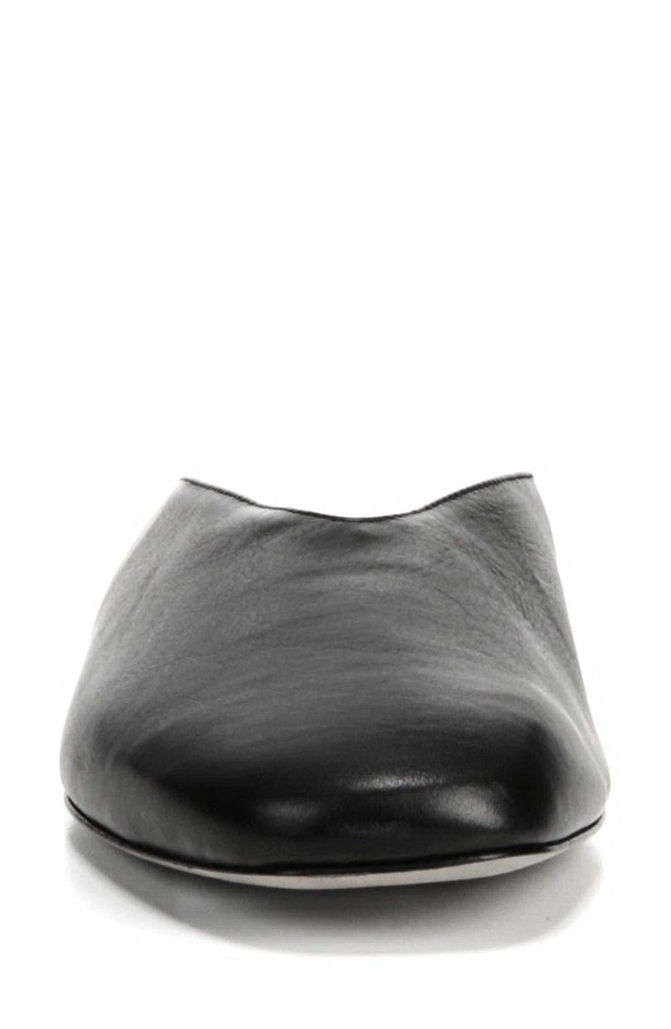 Levins V-Cut Mule,                             Alternate thumbnail 4, color,                             BLACK
