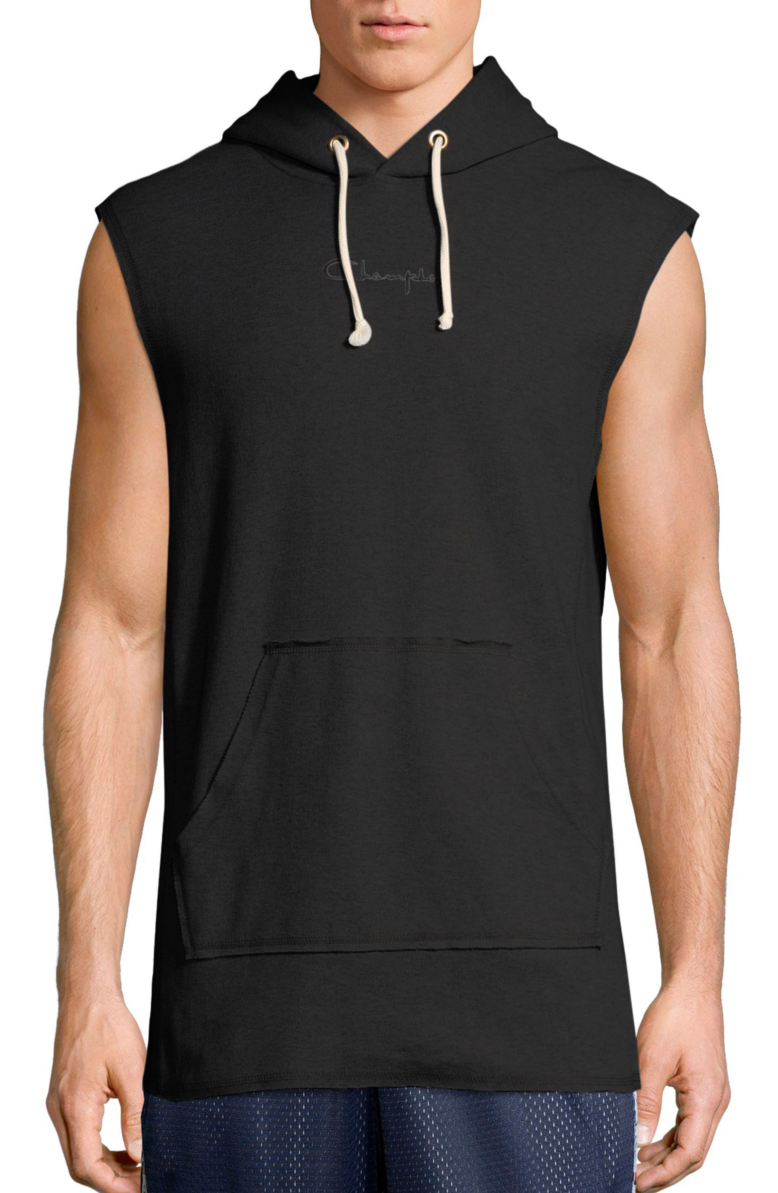 Sleeveless Hoodie,                         Main,                         color, 001