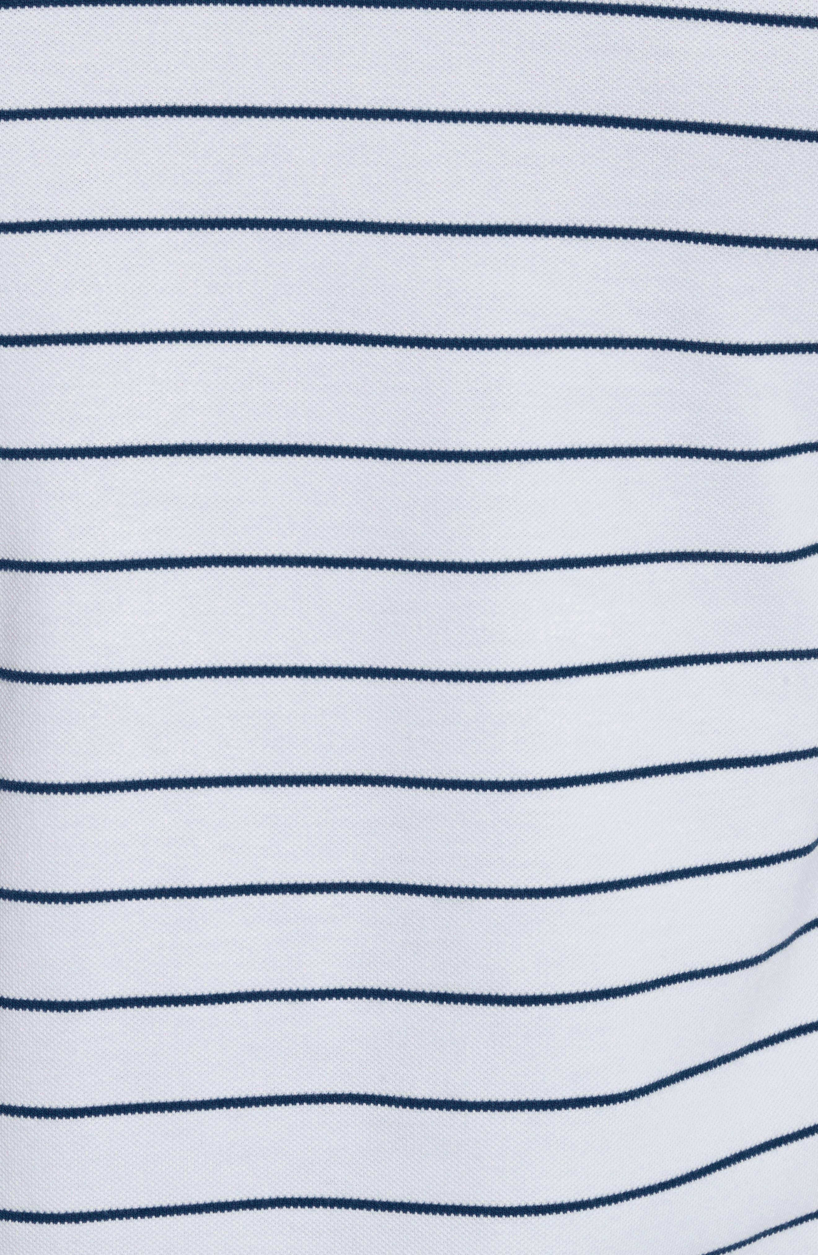 Stripe Officer Polo Shirt,                             Alternate thumbnail 5, color,                             100