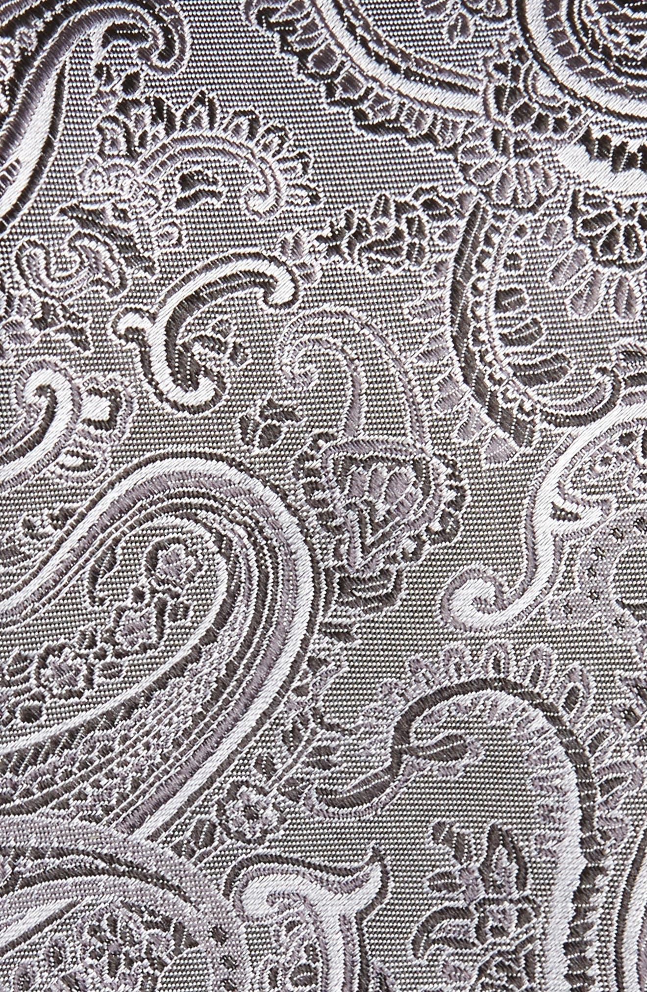 Floating Paisley Silk Tie,                             Alternate thumbnail 2, color,                             001