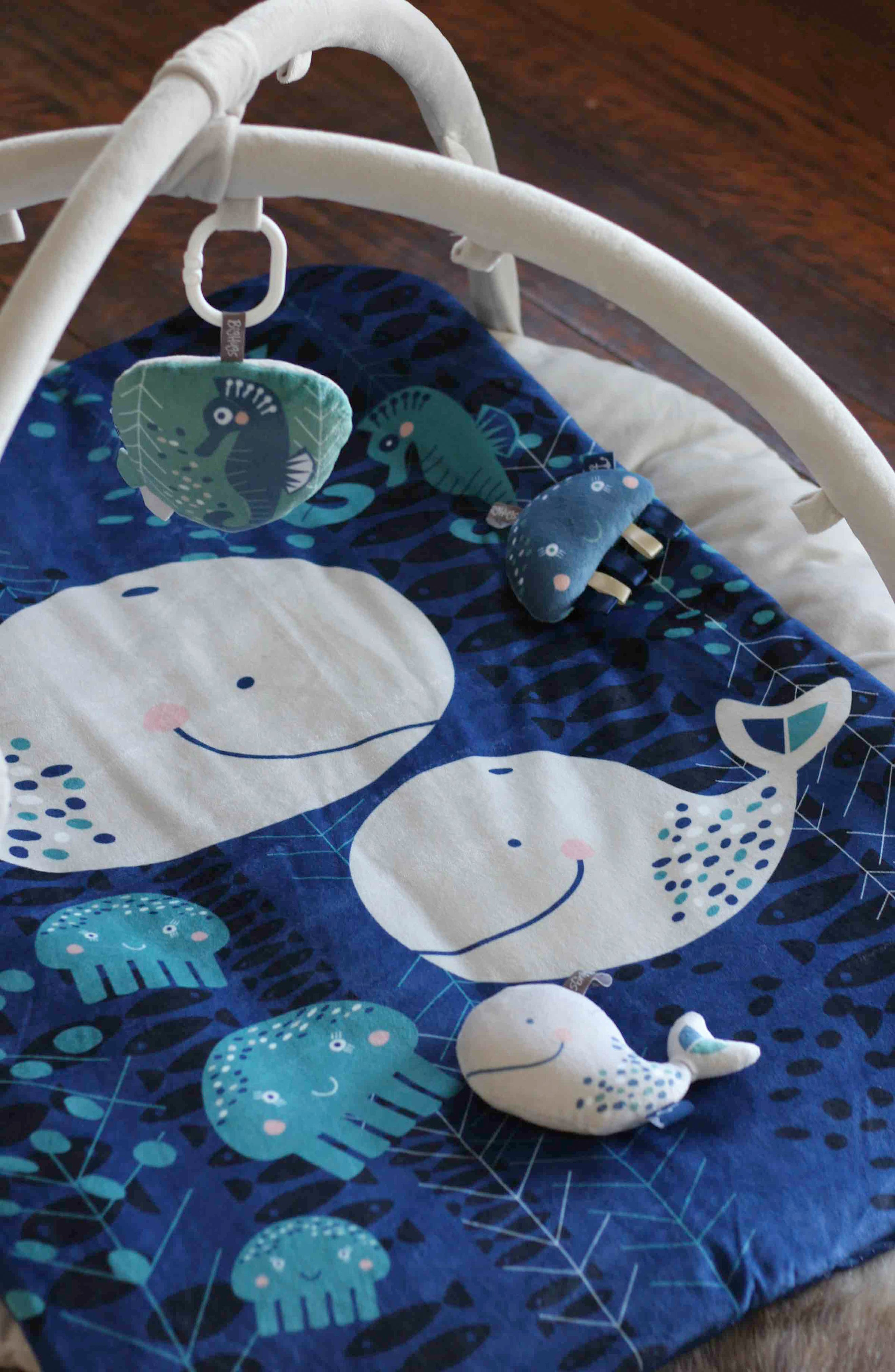 Whale of a Time Play Mat,                             Alternate thumbnail 3, color,                             INDIGO/ GREY/ WHITE