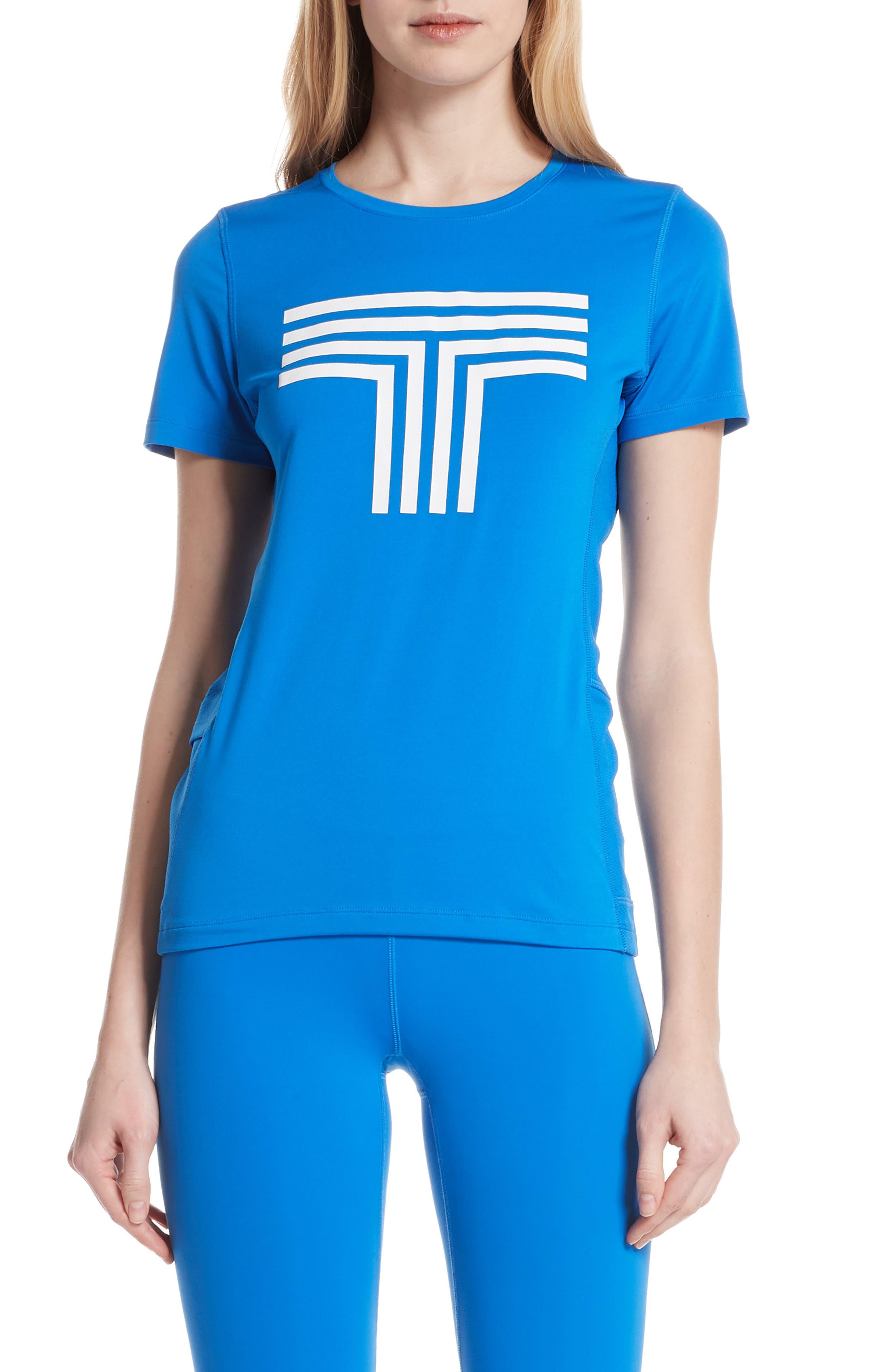 Logo Graphic Tee,                         Main,                         color, GALLERIA BLUE