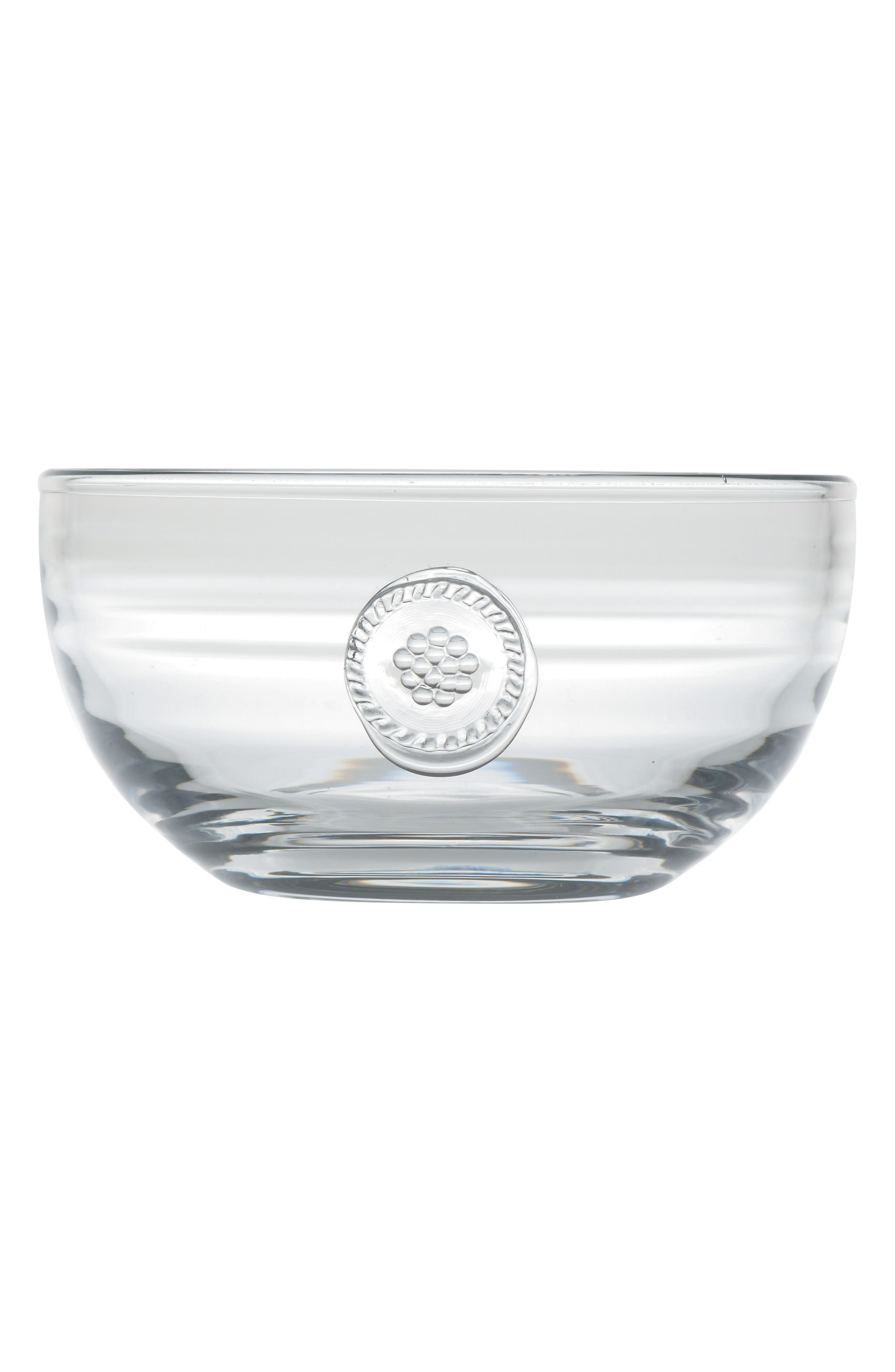 Berry & Thread Small Glass Bowl,                             Alternate thumbnail 2, color,                             CLEAR