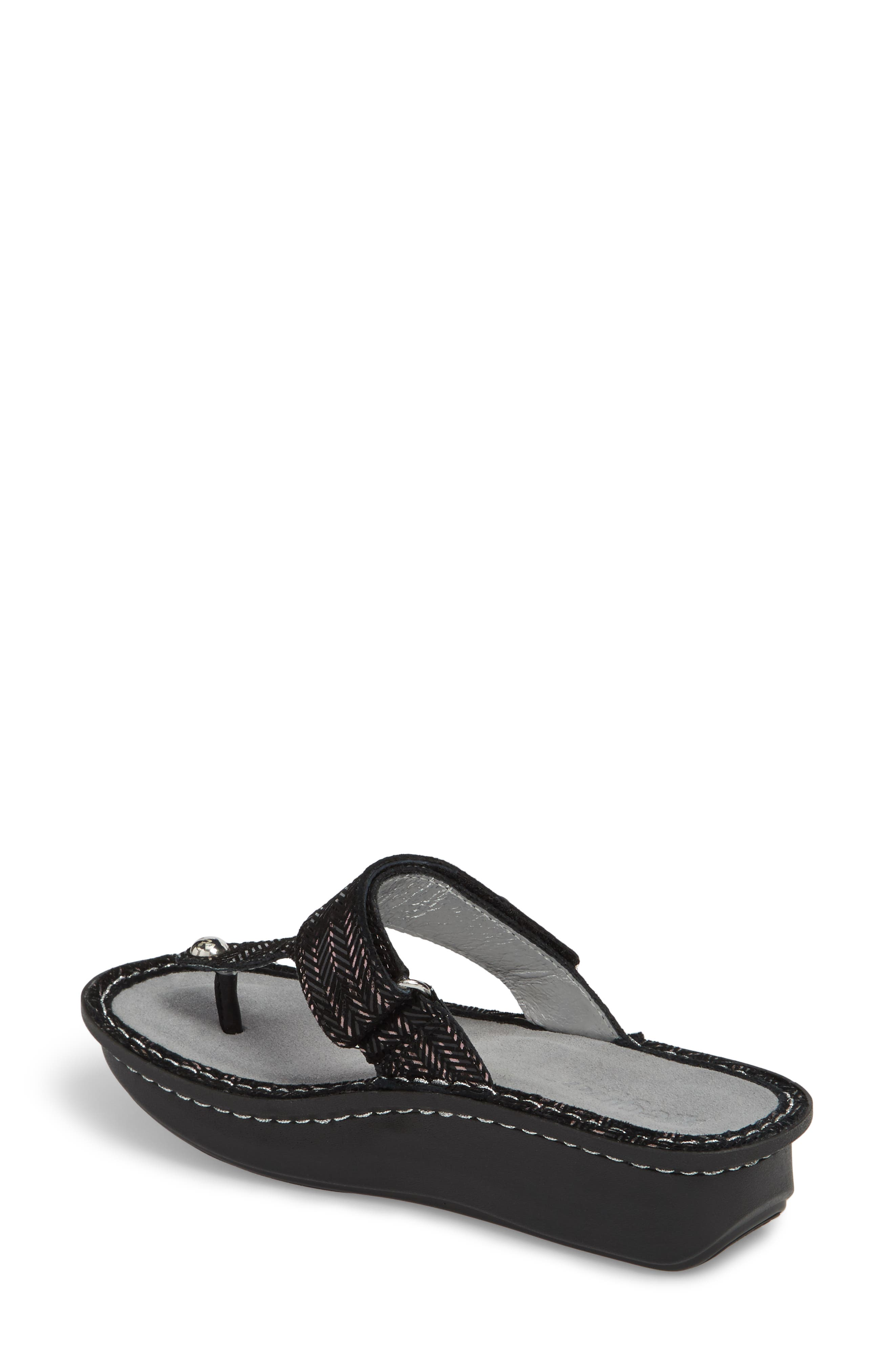 'Carina' Sandal,                             Alternate thumbnail 2, color,                             CHAINED BLACK LEATHER