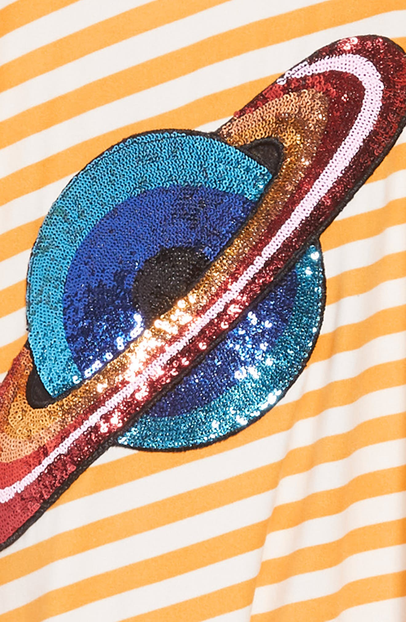 Blooming Skater Dress,                             Alternate thumbnail 3, color,                             MUSTARD