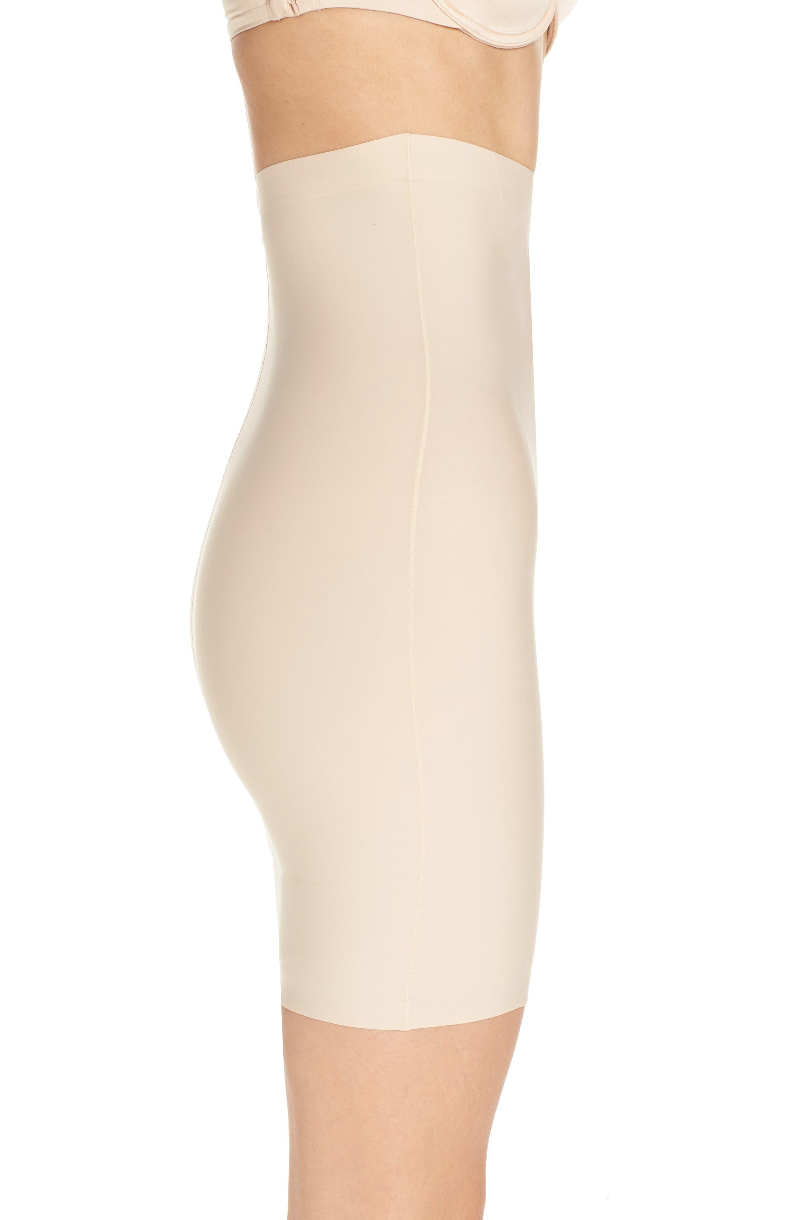 High Waist Smoother Skirt Slip,                             Alternate thumbnail 3, color,                             FRAPPE