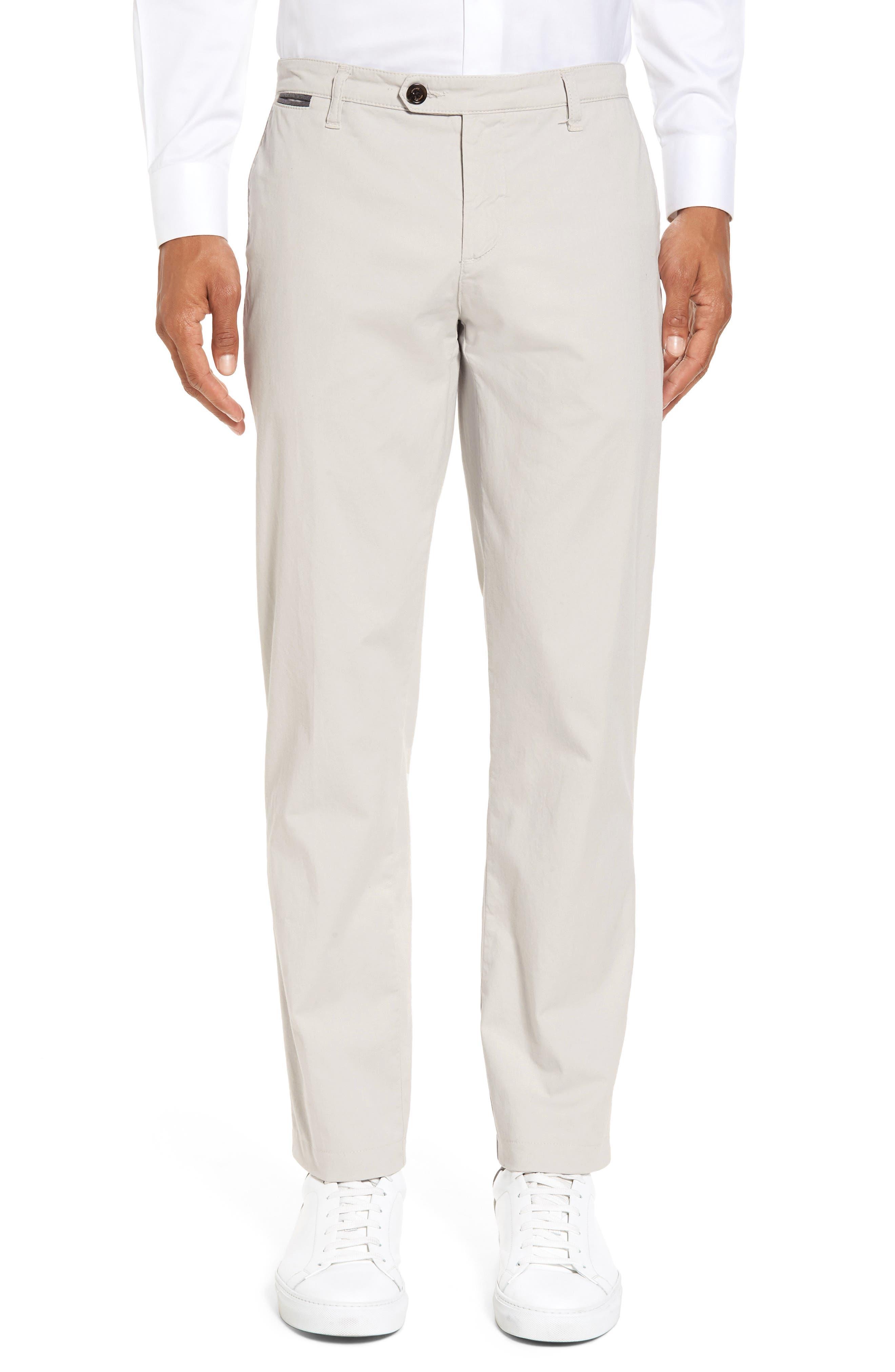 ELEVENTY Slim Fit Chino Pants, Main, color, SAND