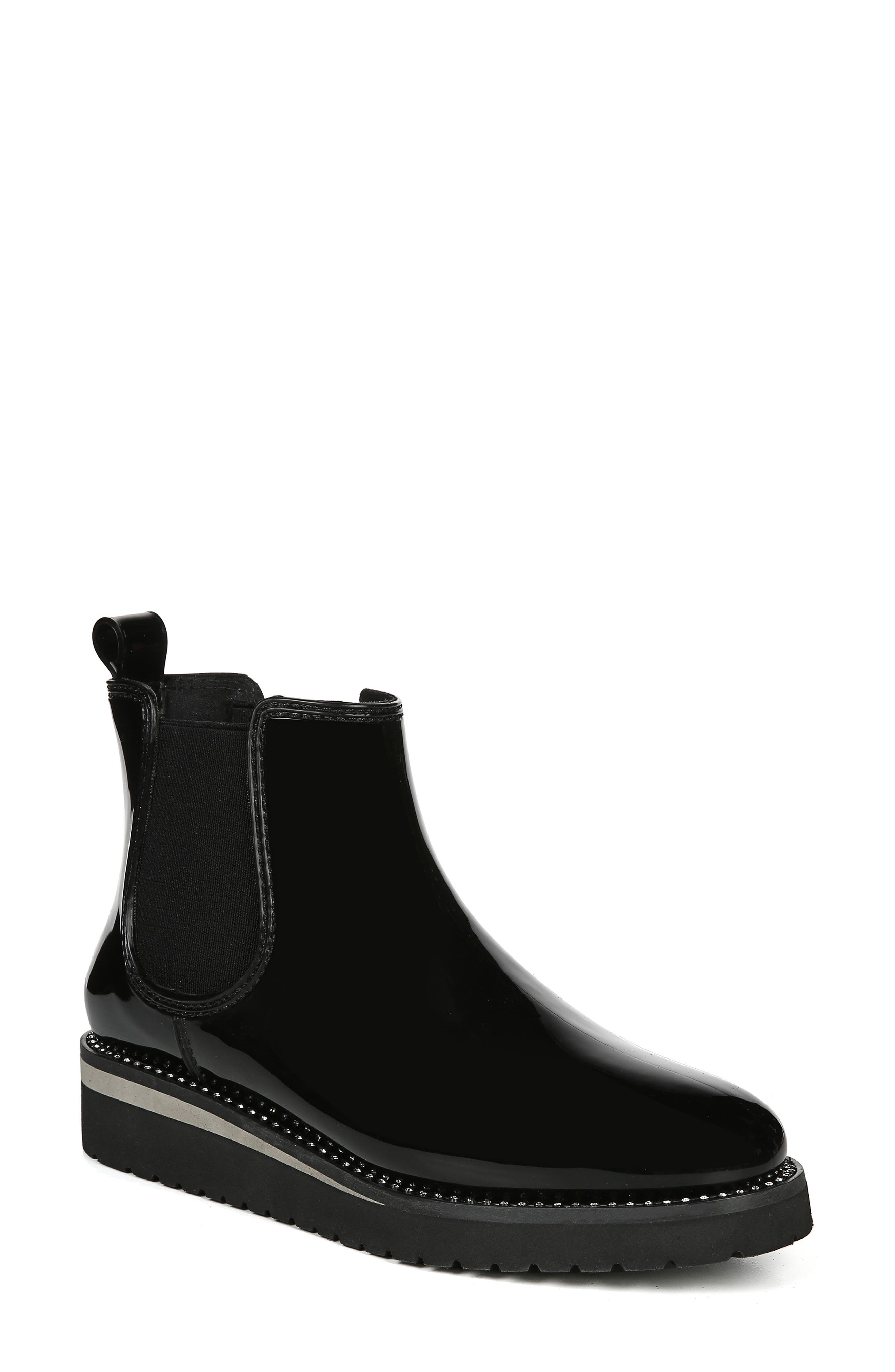 Luna Waterproof Chelsea Boot, Main, color, BLACK