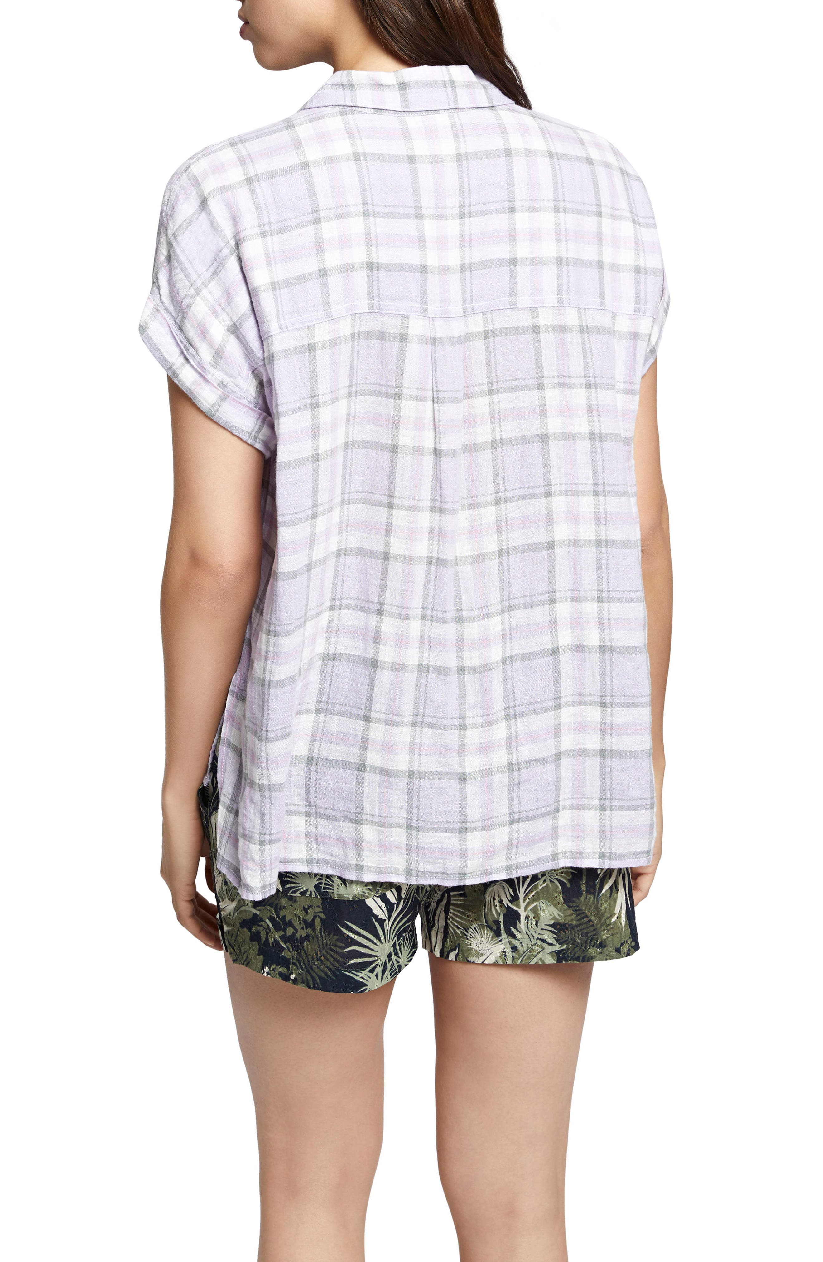 Mod Short Sleeve Boyfriend Shirt,                             Alternate thumbnail 11, color,
