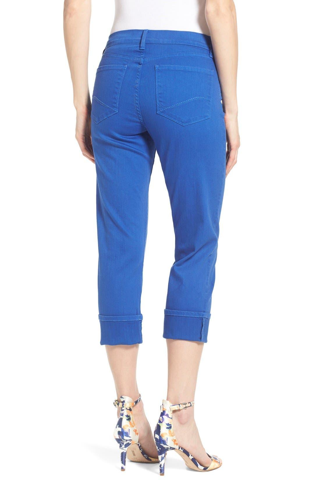 'Dayla' Colored Wide Cuff Capri Jeans,                             Alternate thumbnail 23, color,