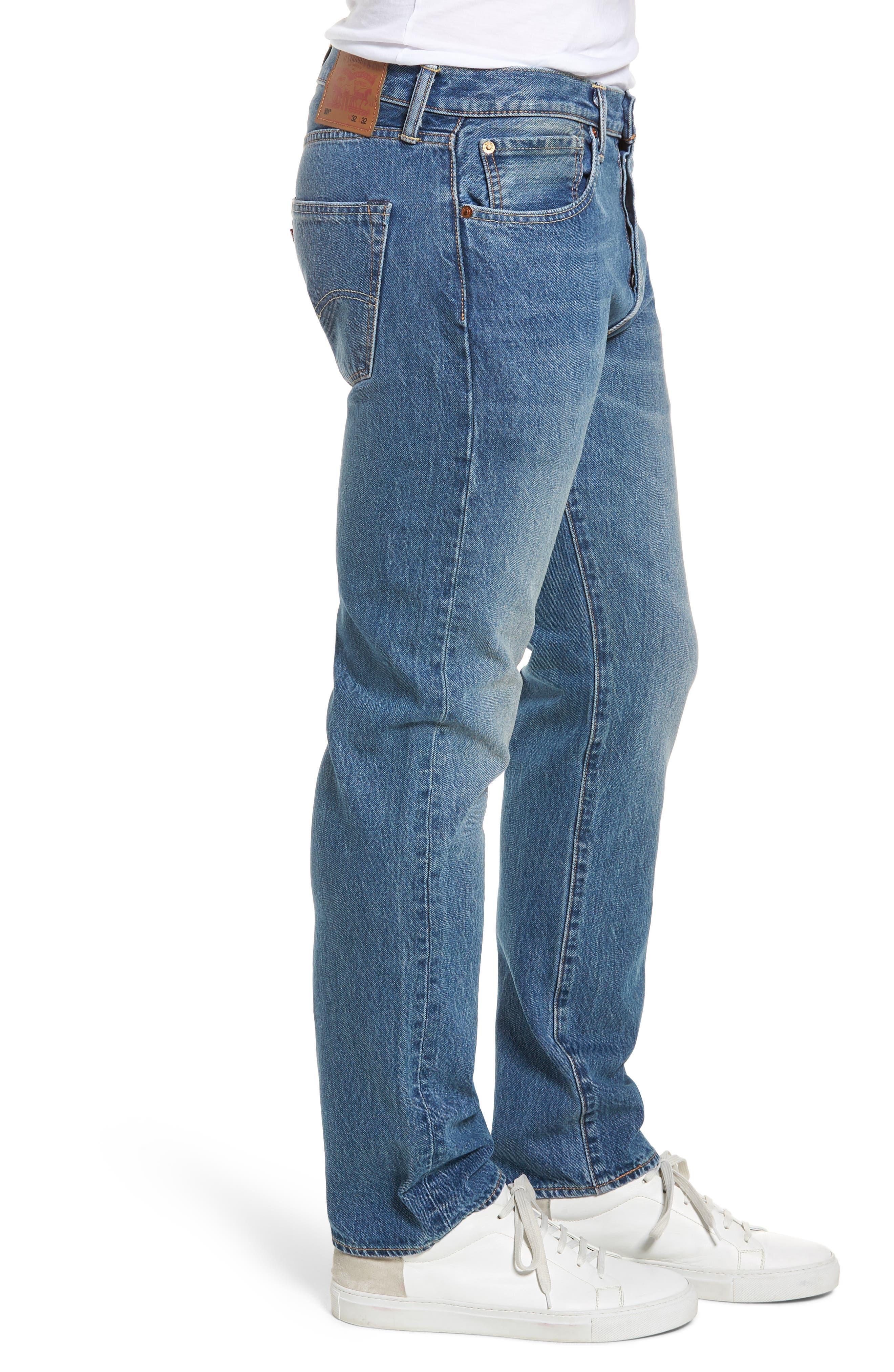 501<sup>™</sup> Straight Leg Jeans,                             Alternate thumbnail 3, color,
