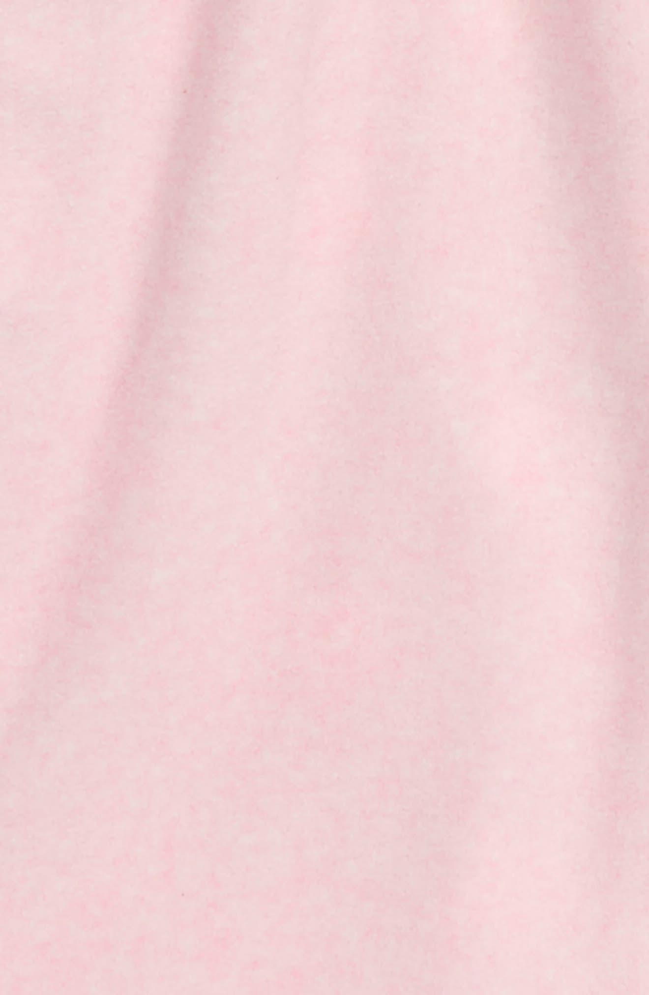 Reversible Fleece Robe,                             Alternate thumbnail 3, color,                             PINK BABY HEATHER STARS