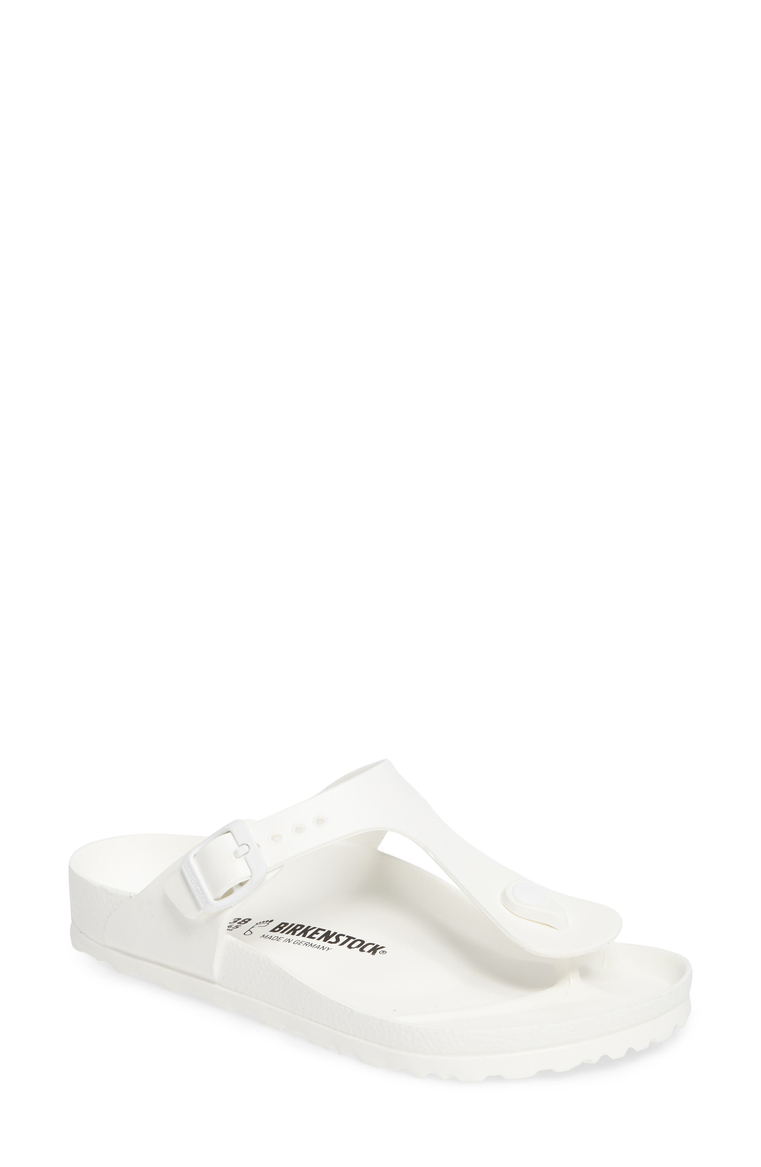 Essentials - Gizeh Flip Flop,                             Main thumbnail 1, color,                             WHITE