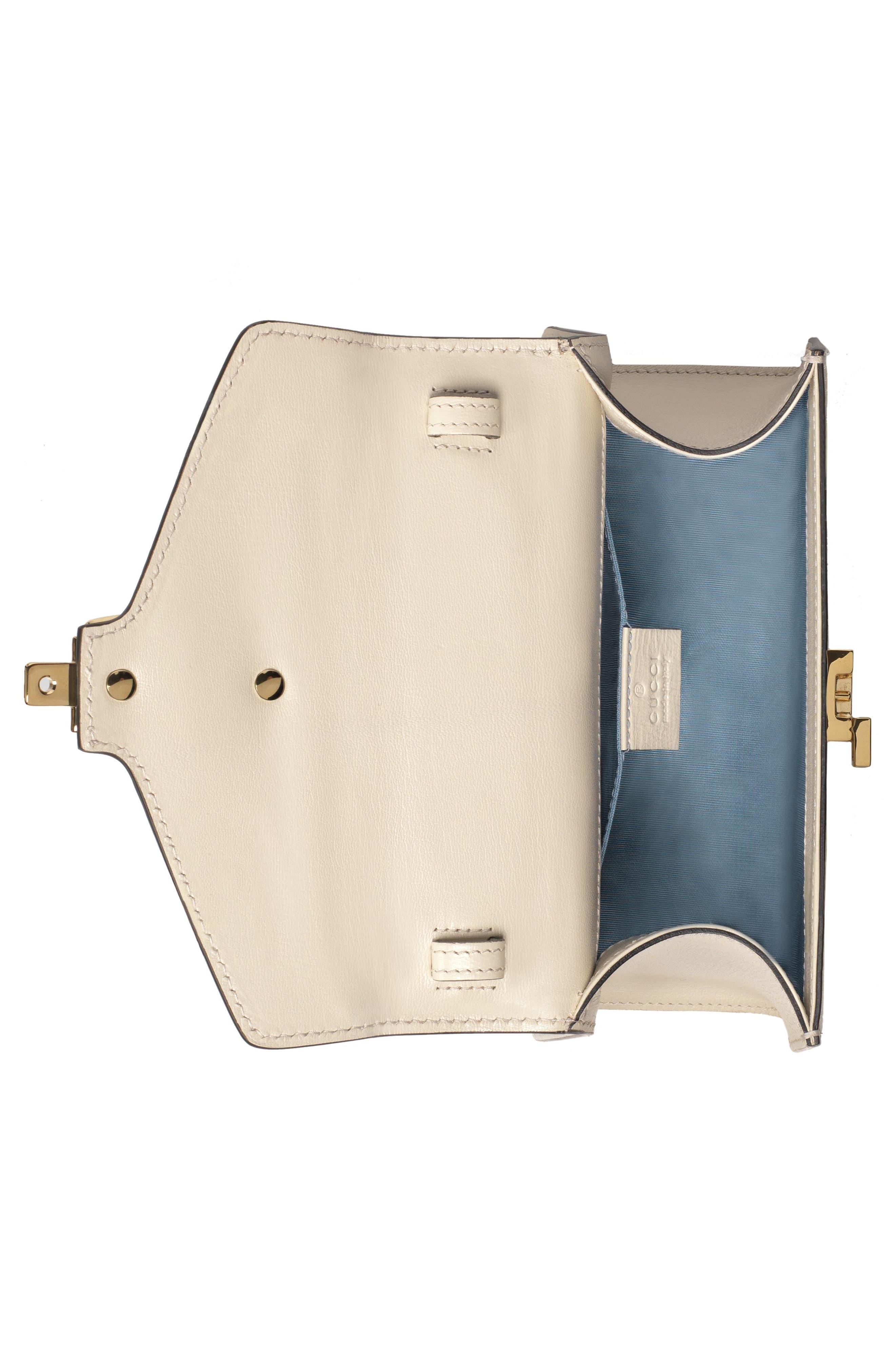 Mini Sylvie Moon & Stars Leather Shoulder Bag,                             Alternate thumbnail 3, color,
