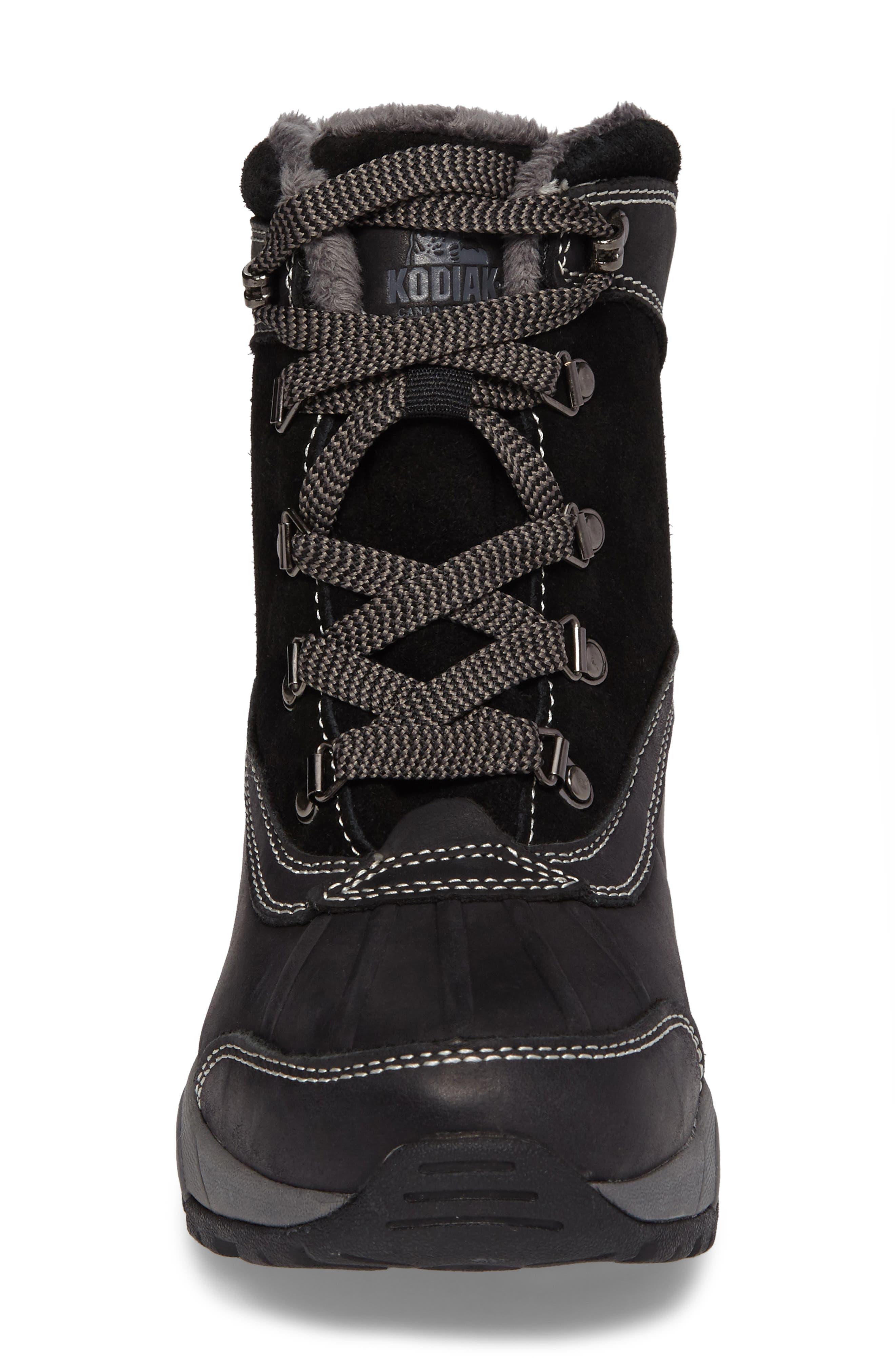'Renee' Waterproof Insulated Winter Boot,                             Alternate thumbnail 4, color,                             001