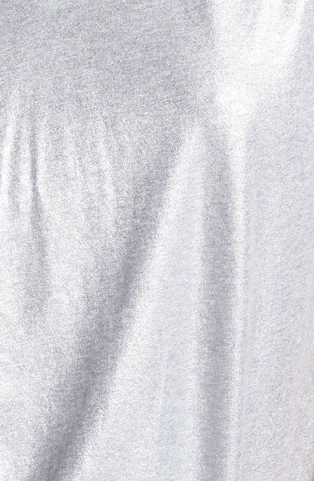 V-Neck Metallic Foiled Tee,                             Alternate thumbnail 2, color,                             040