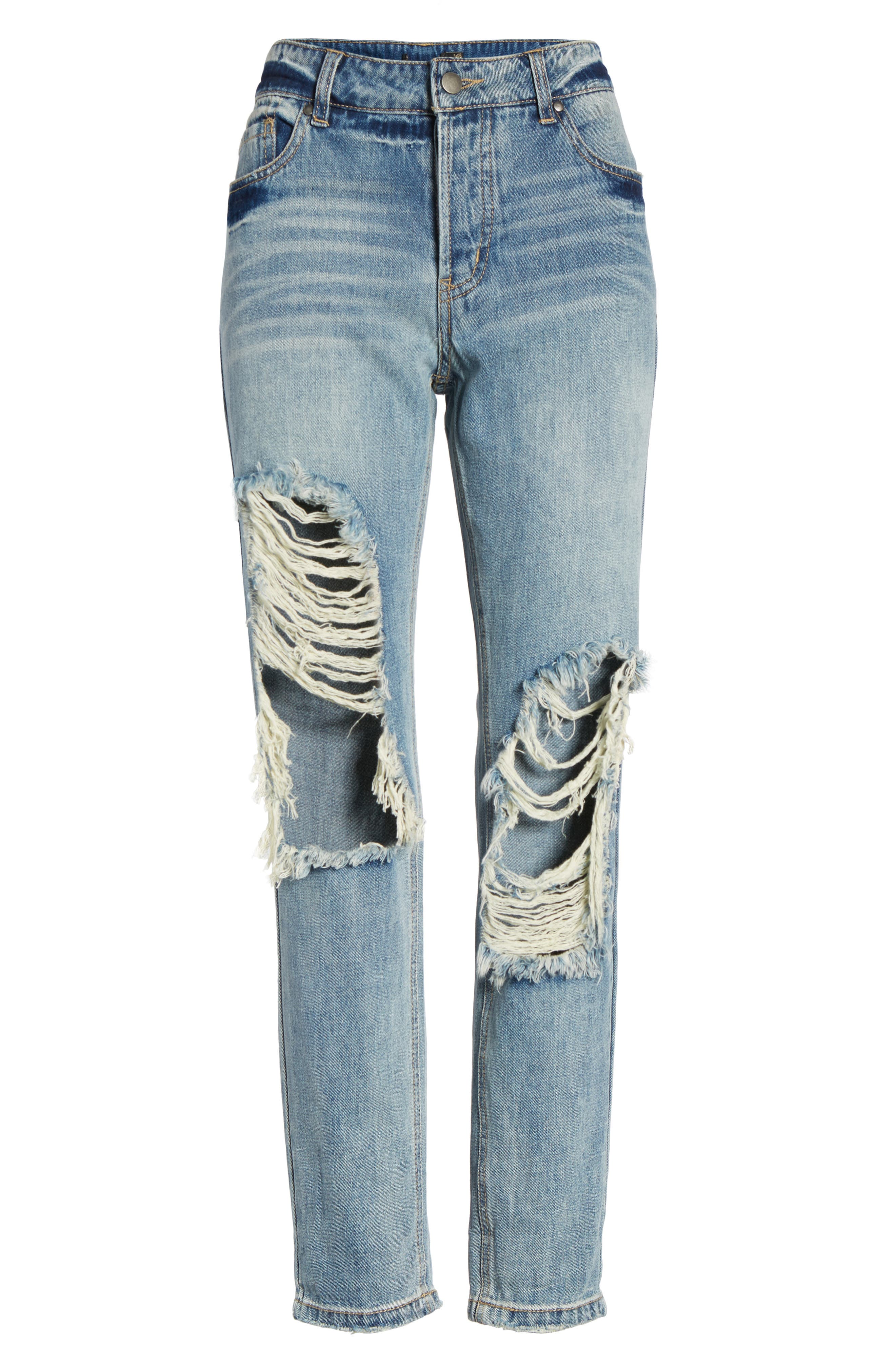 Cyrus High Waist Ankle Jeans,                             Alternate thumbnail 6, color,                             SINNER WASH