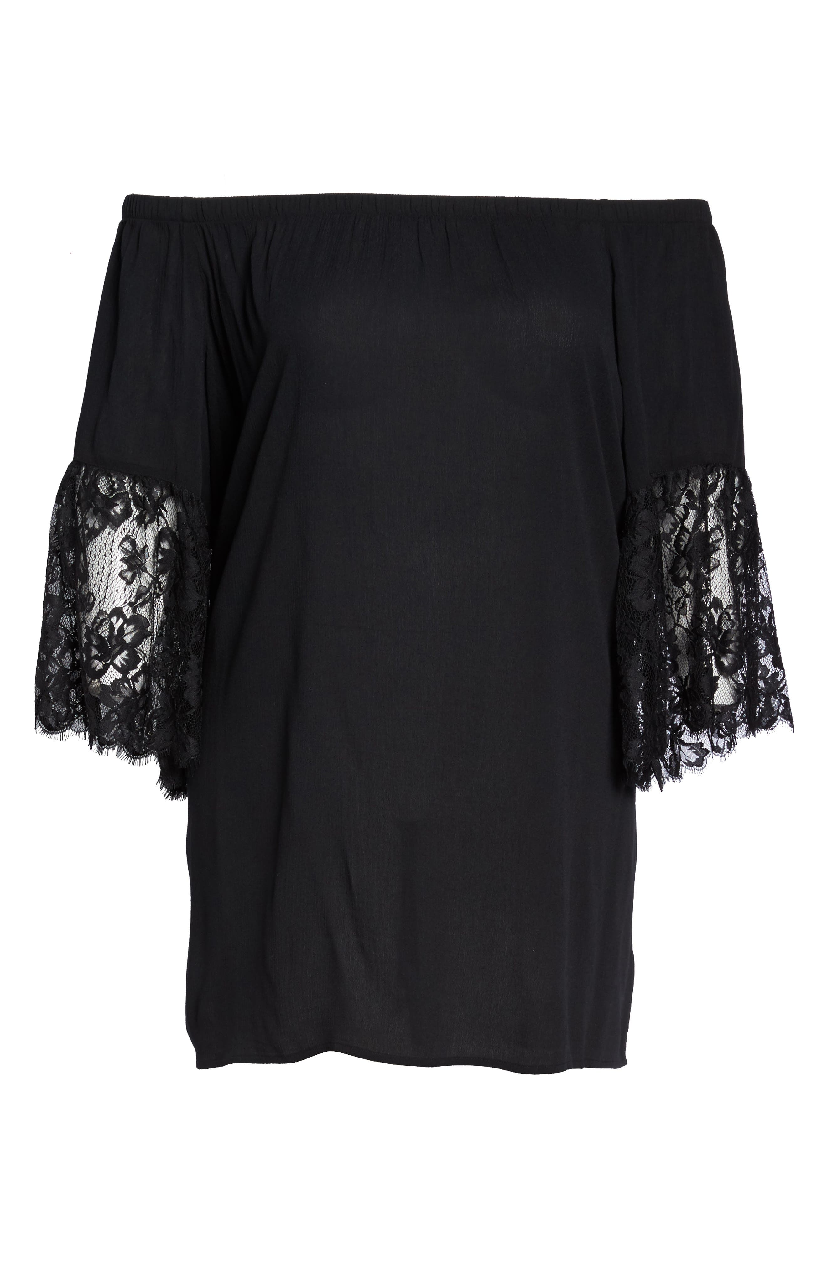 Off the Shoulder Cover-Up,                             Alternate thumbnail 6, color,                             001