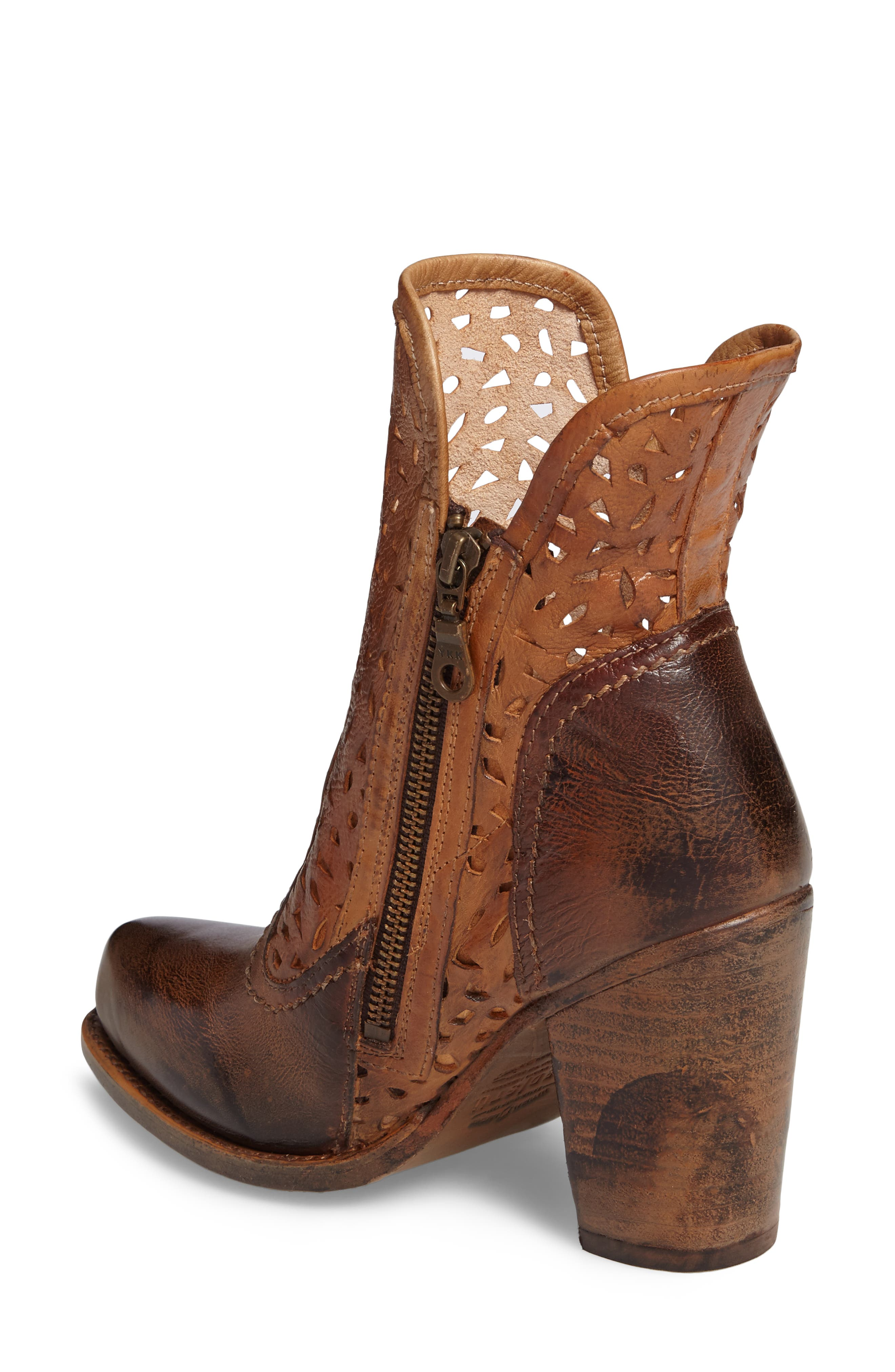 Irma Perforated Boot,                             Alternate thumbnail 4, color,