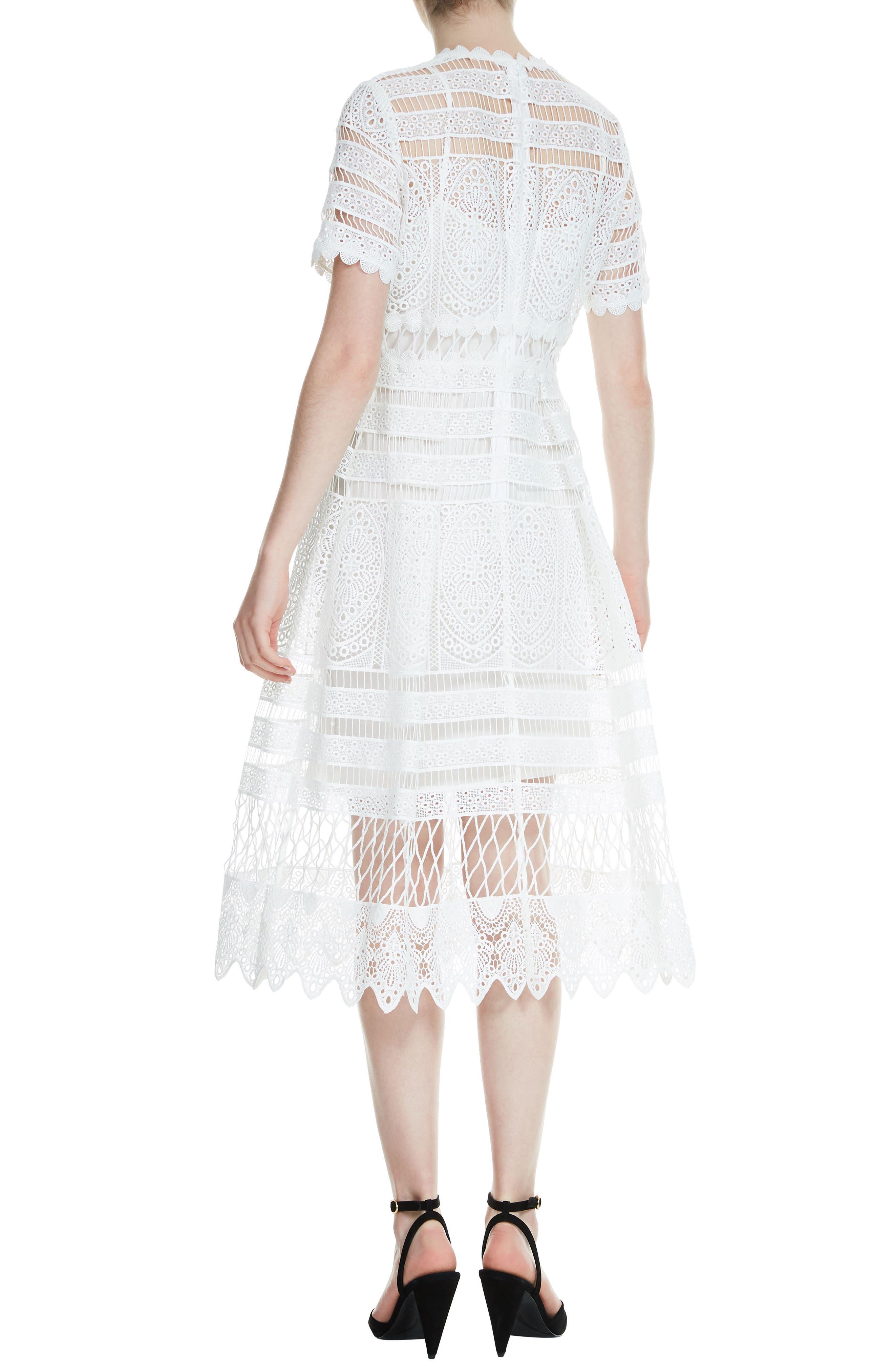 Roseray Lace Midi Dress,                             Alternate thumbnail 2, color,                             100