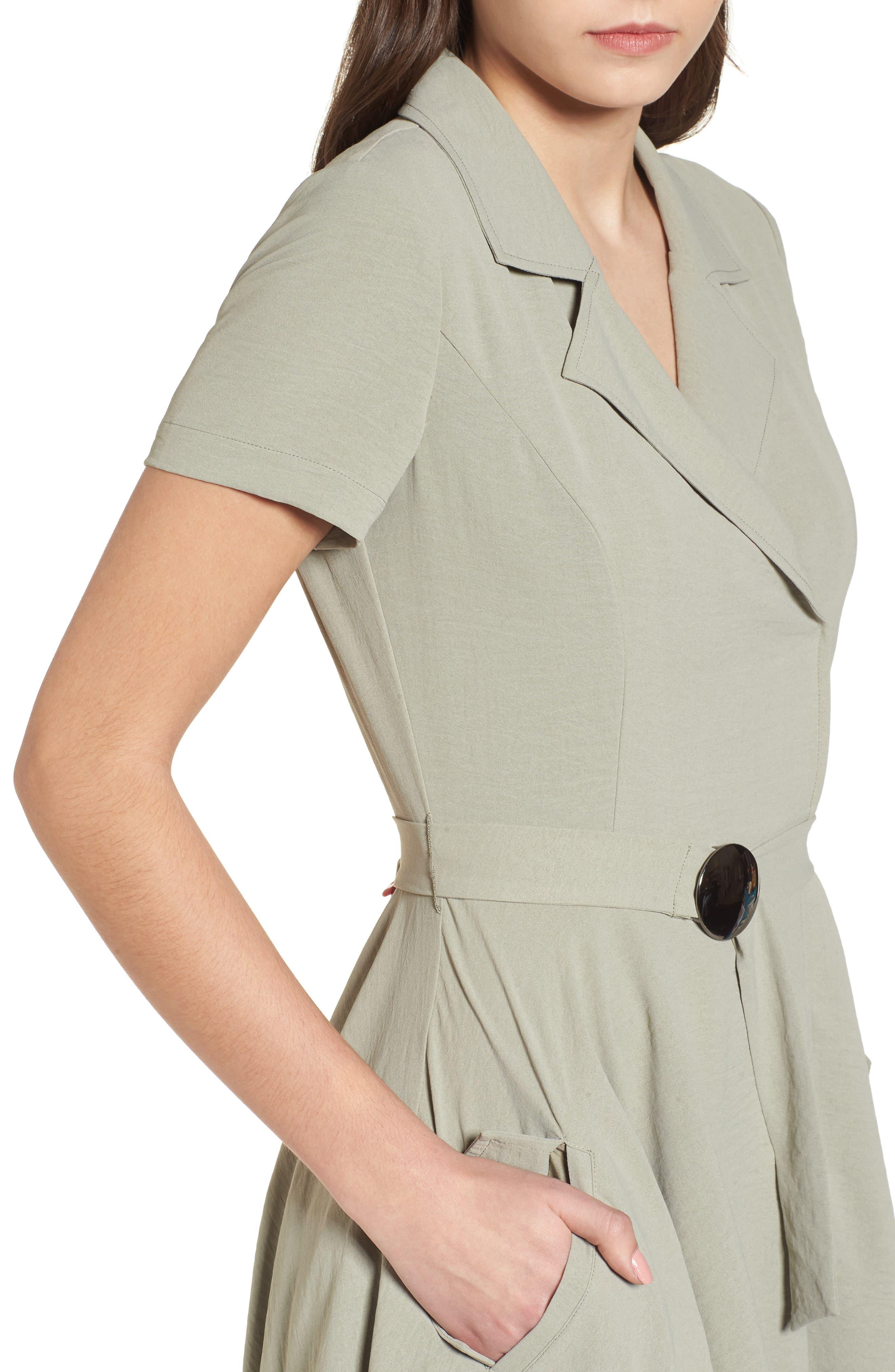 Chriselle x J.O.A. Asymmetrical Trench Dress,                             Alternate thumbnail 5, color,                             300