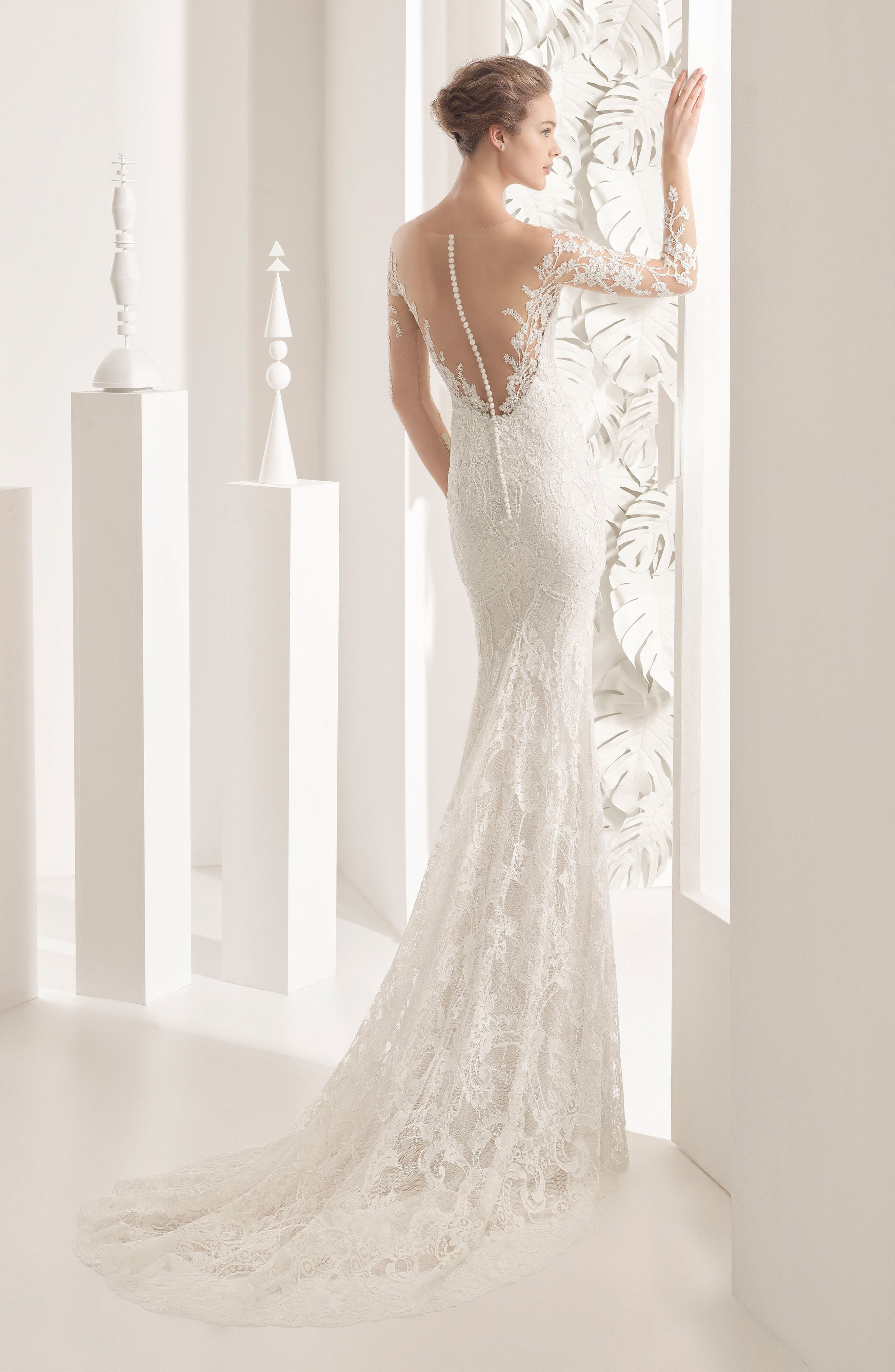 Naim Strapless Illusion Lace Mermaid Gown,                             Alternate thumbnail 2, color,                             900