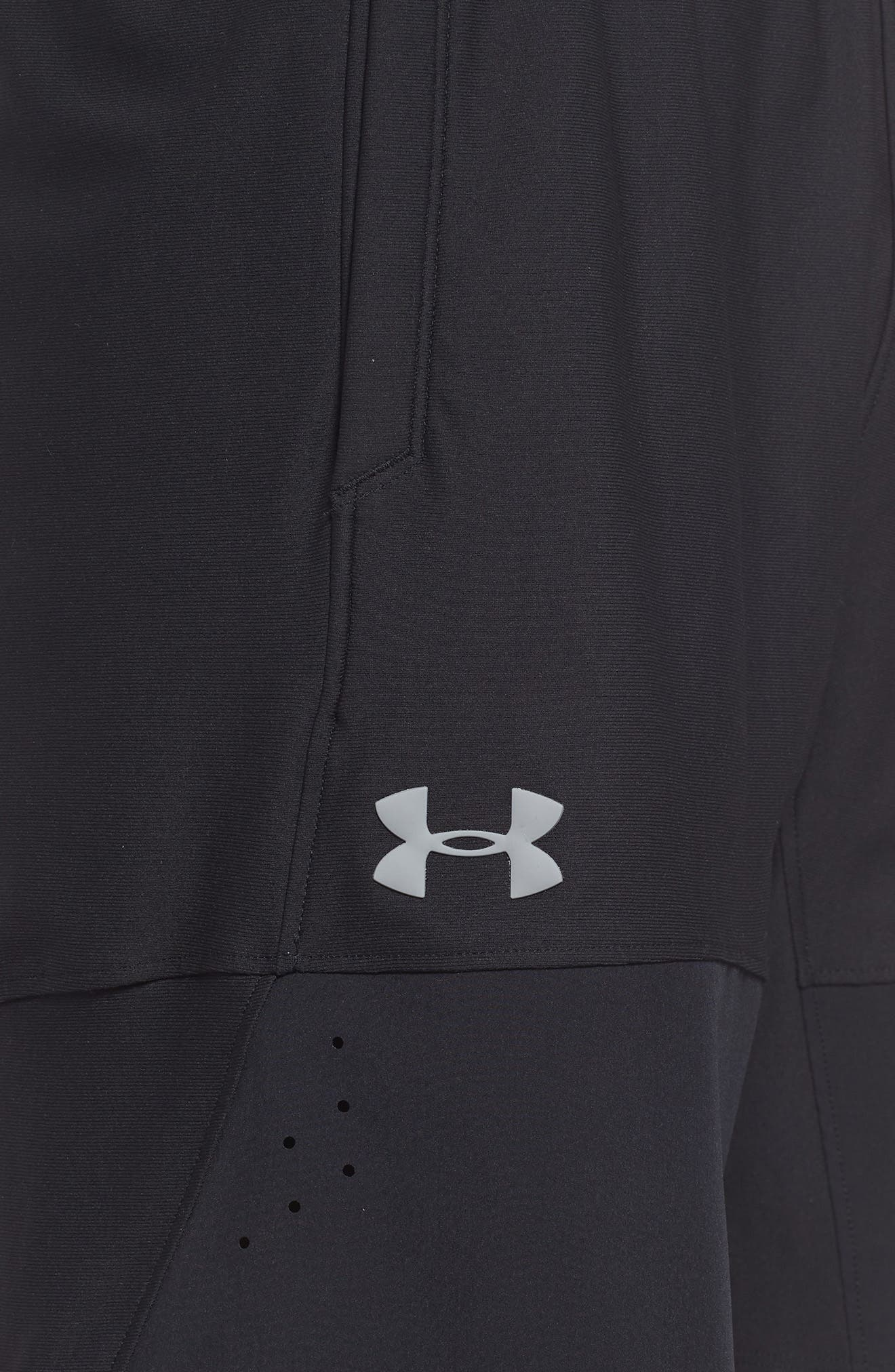 Threadborne Vanish Fitted Shorts,                             Alternate thumbnail 4, color,                             BLACK