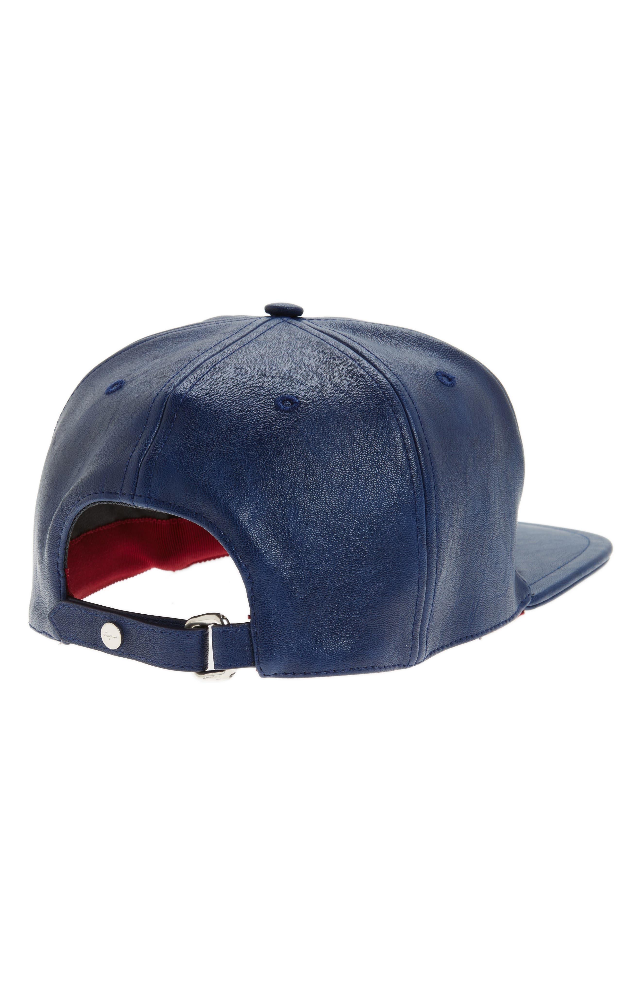 Faux Leather Baseball Cap,                             Alternate thumbnail 2, color,                             410