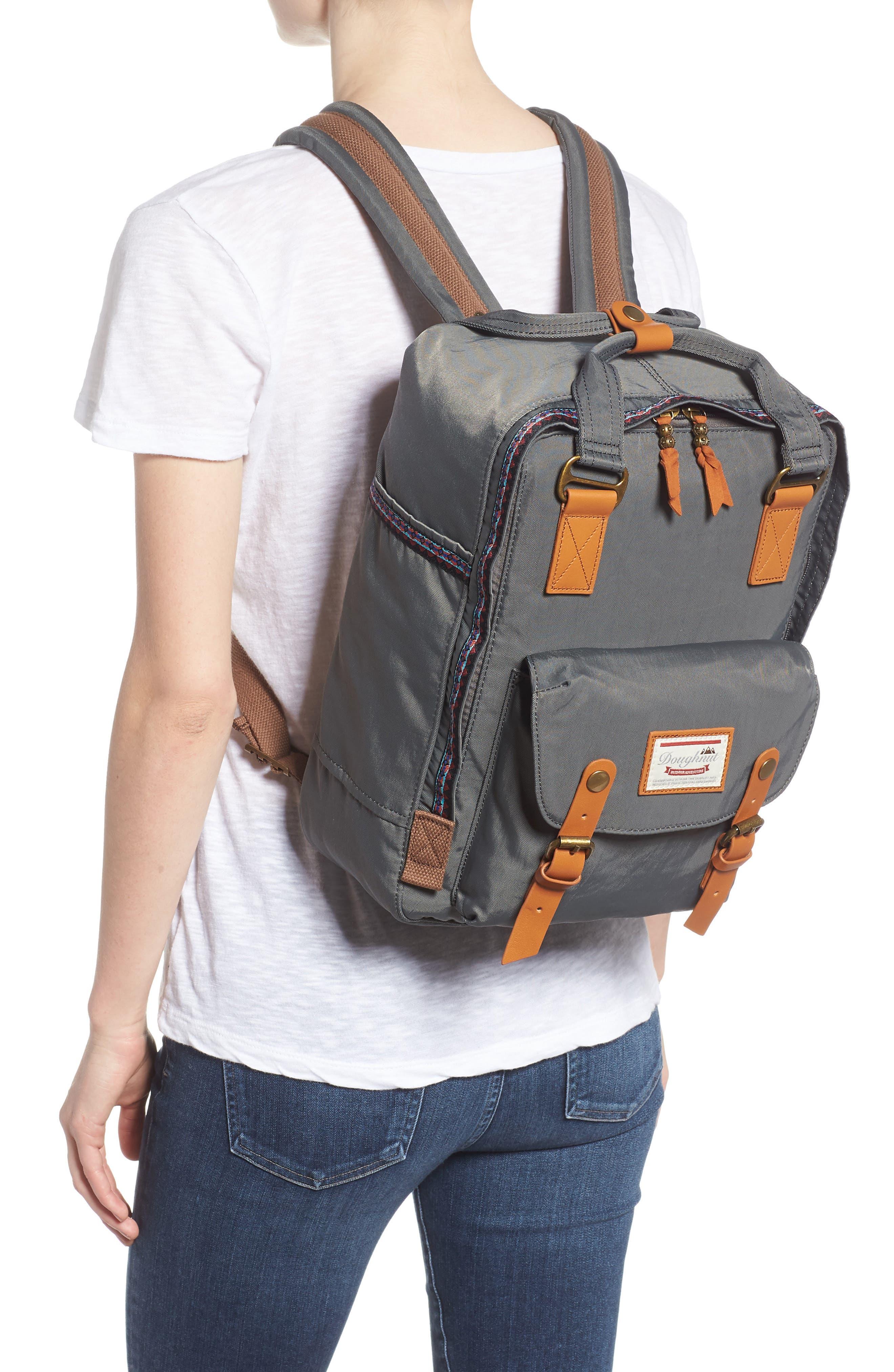 Macaroon Bo-He Water Resistant Backpack,                             Alternate thumbnail 2, color,                             CHARCOAL