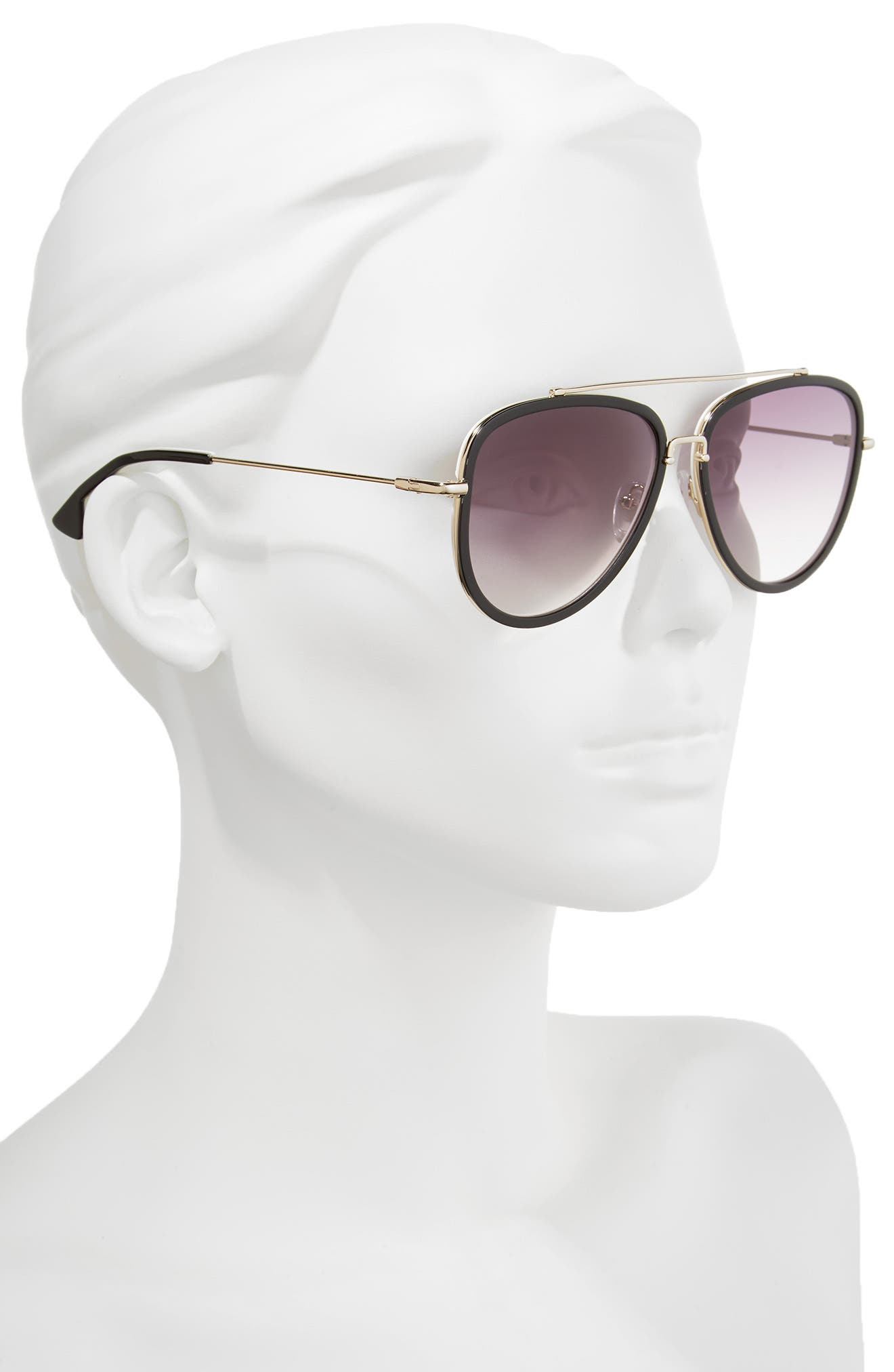 Lincoln 58mm Aviator Sunglasses,                             Alternate thumbnail 5, color,