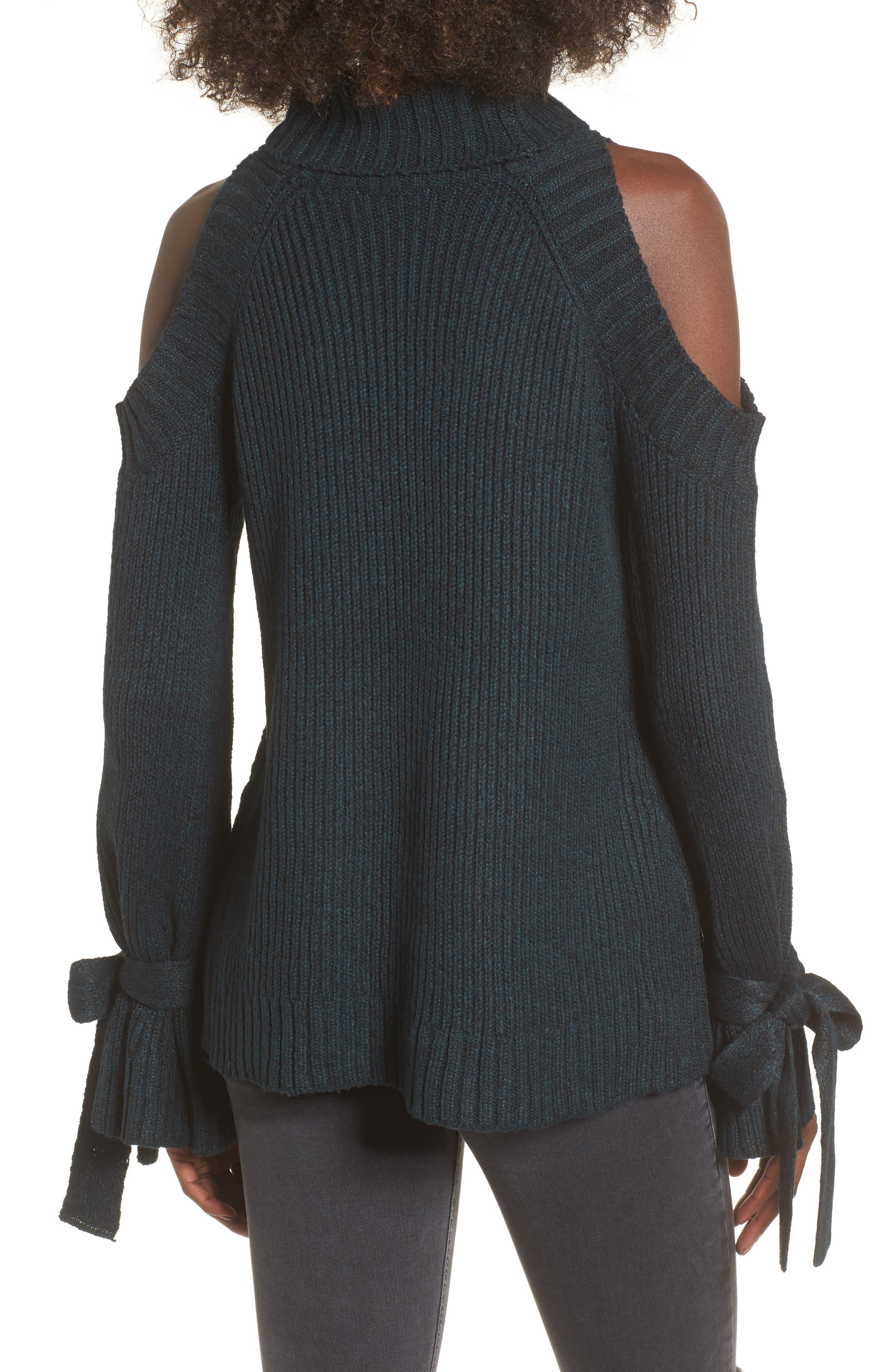 Cold Shoulder Turtleneck Sweater,                             Alternate thumbnail 2, color,                             300