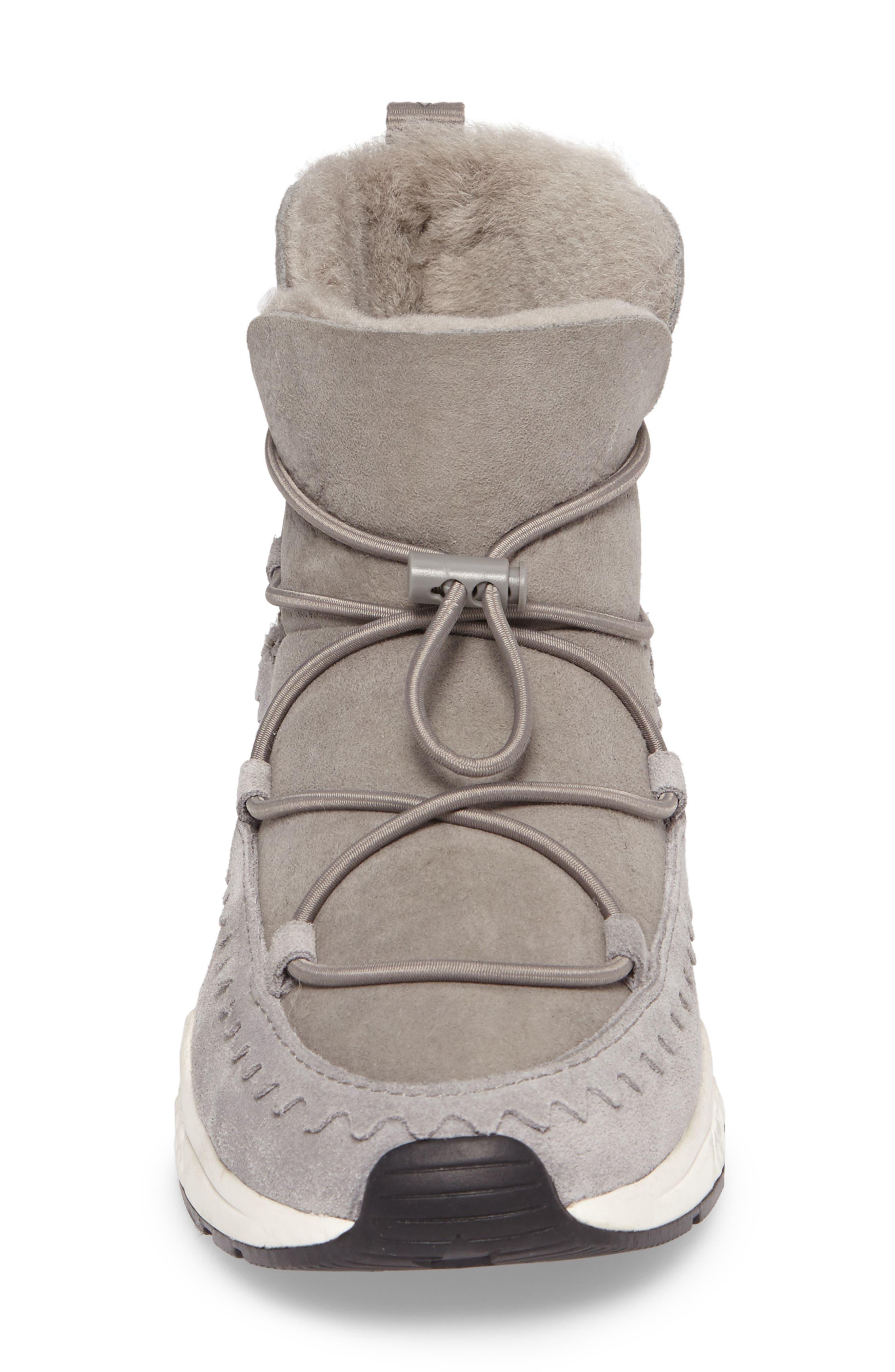 Mitsouko Genuine Shearling Sneaker,                             Alternate thumbnail 4, color,