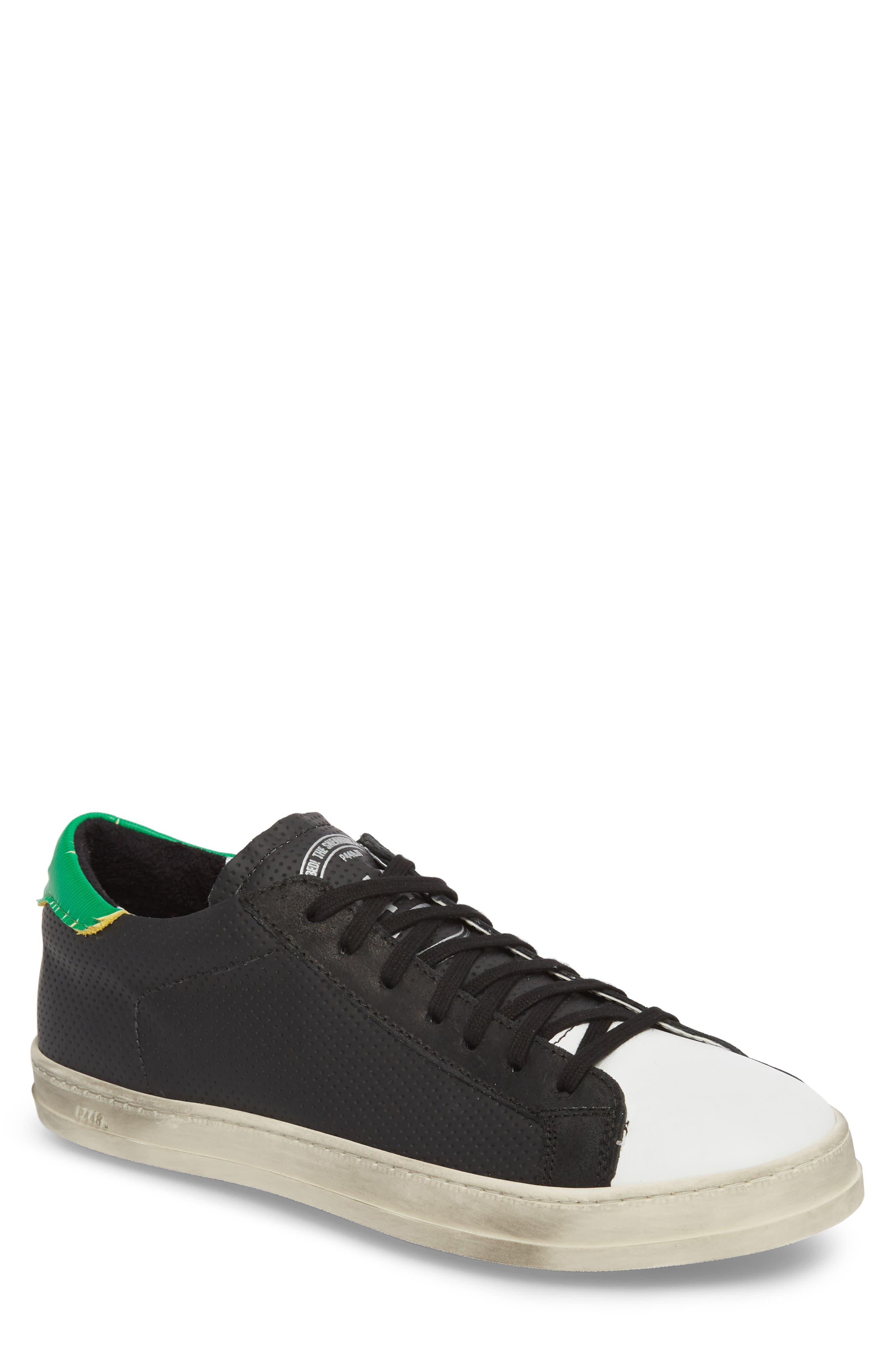 John Low Top Sneaker,                         Main,                         color, BLACK