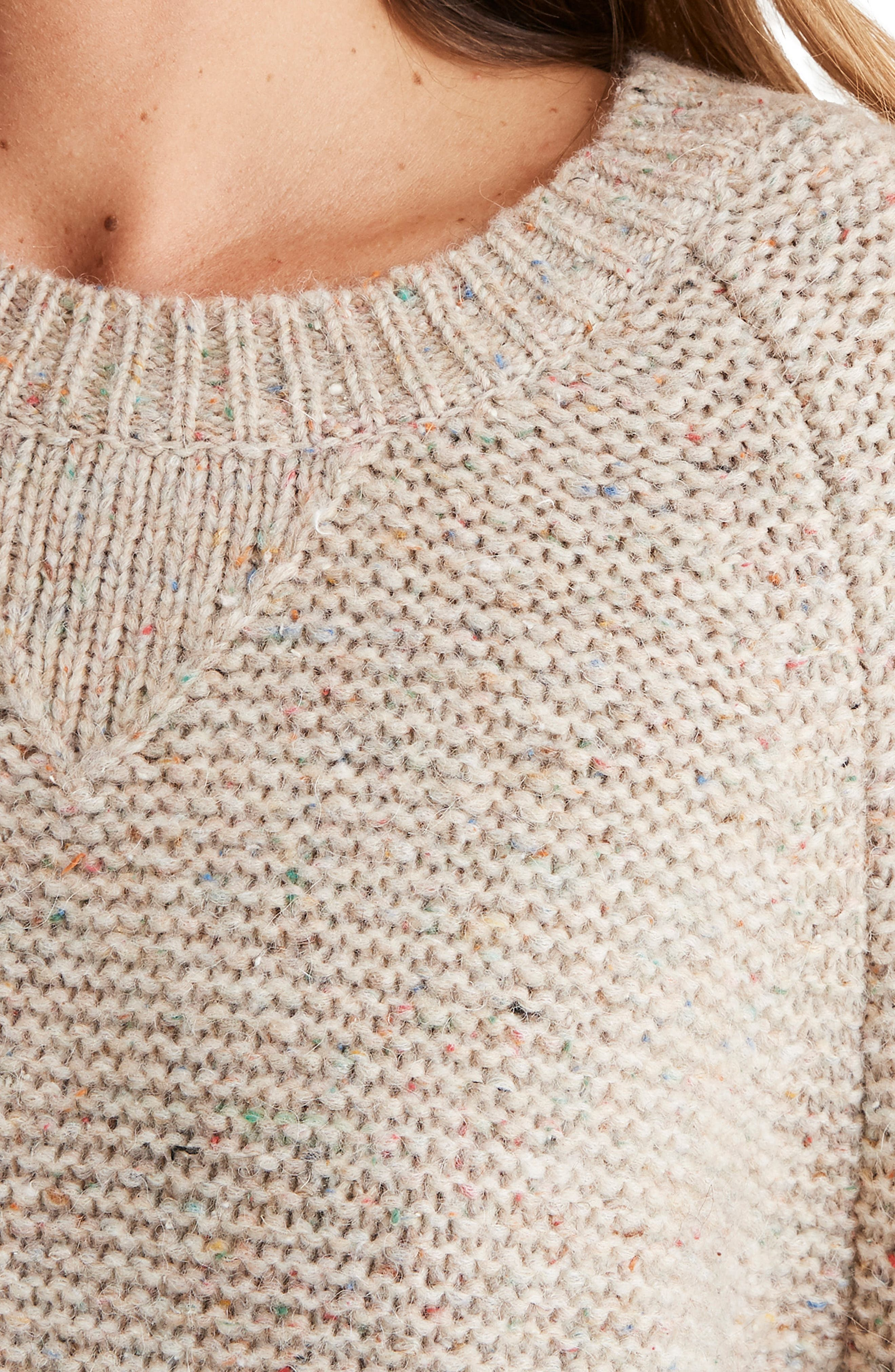 MADEWELL,                             Flecked Wide Sleeve Sweater,                             Alternate thumbnail 4, color,                             020