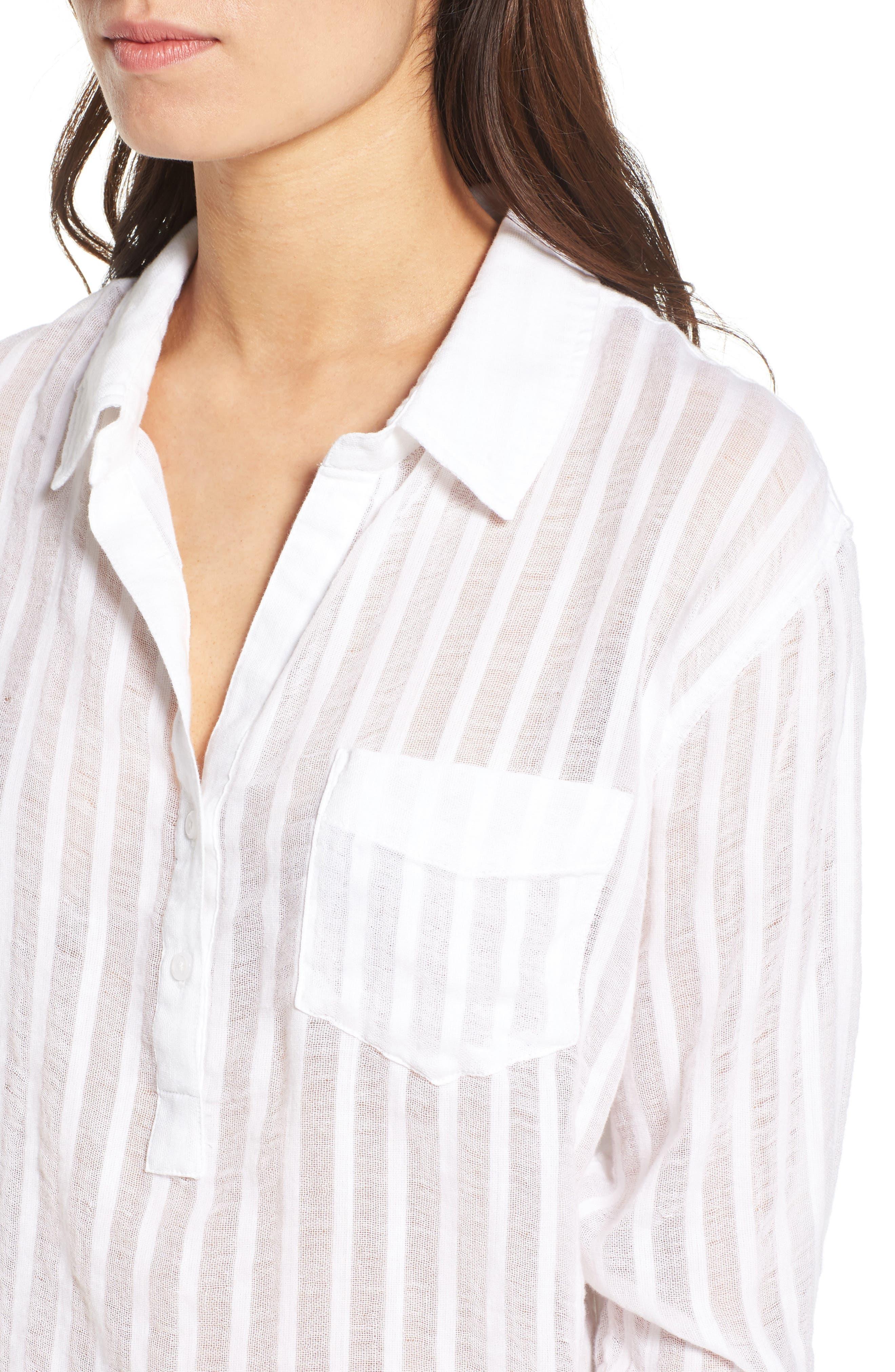 Charli Cotton Shirt,                             Alternate thumbnail 4, color,                             135