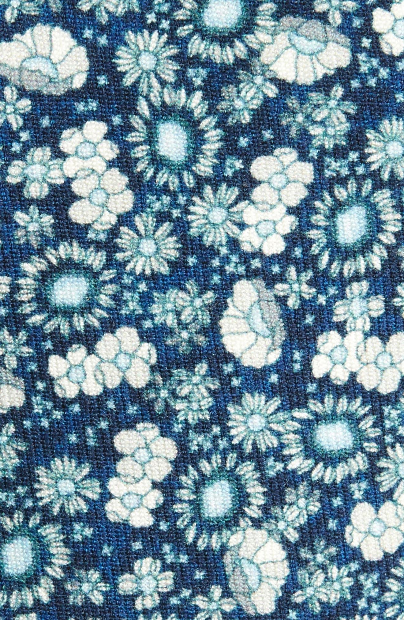 Flower City Wool Skinny Tie,                             Alternate thumbnail 4, color,