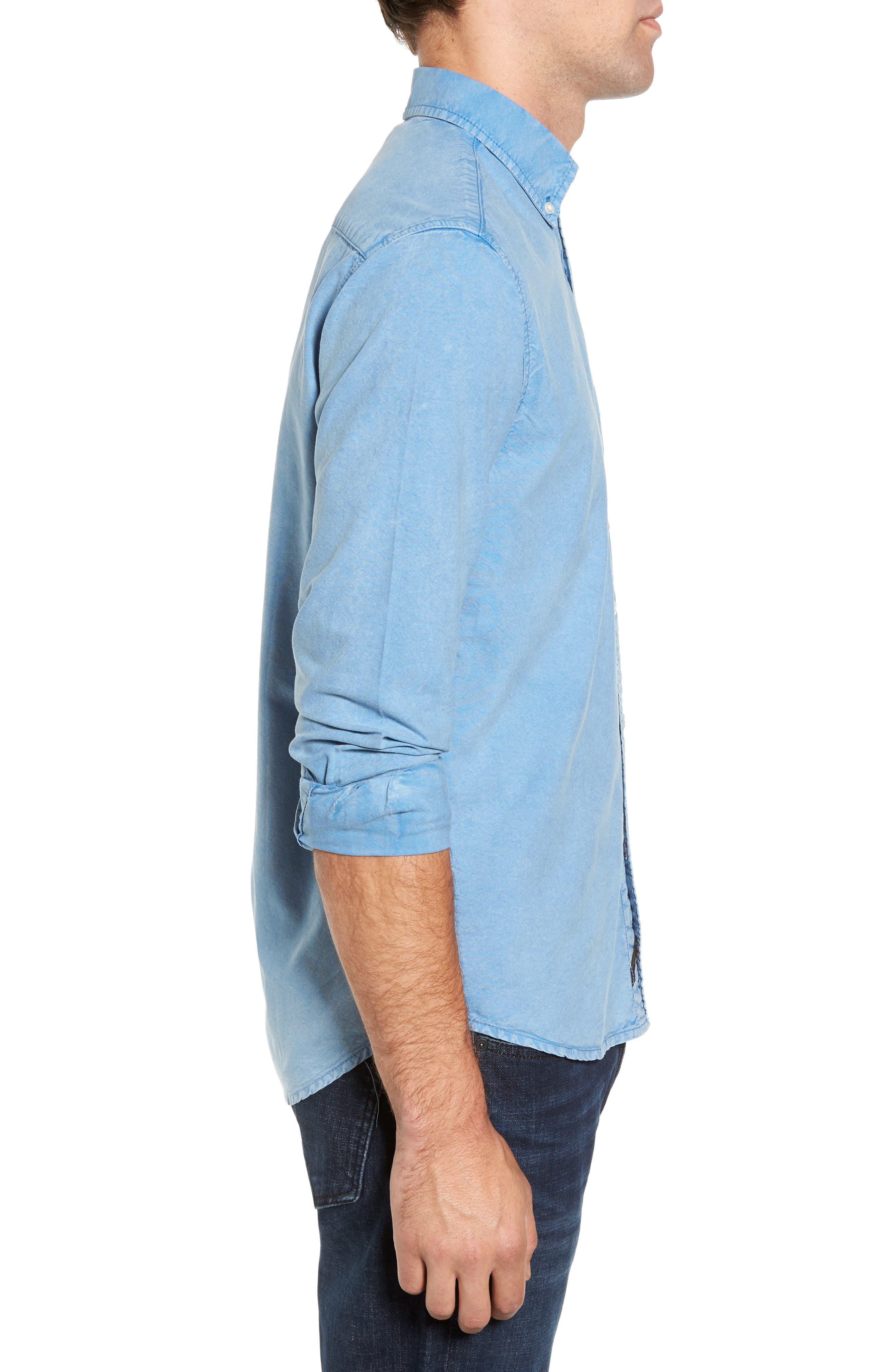 Regular Fit Oxford Sport Shirt,                             Alternate thumbnail 3, color,                             460