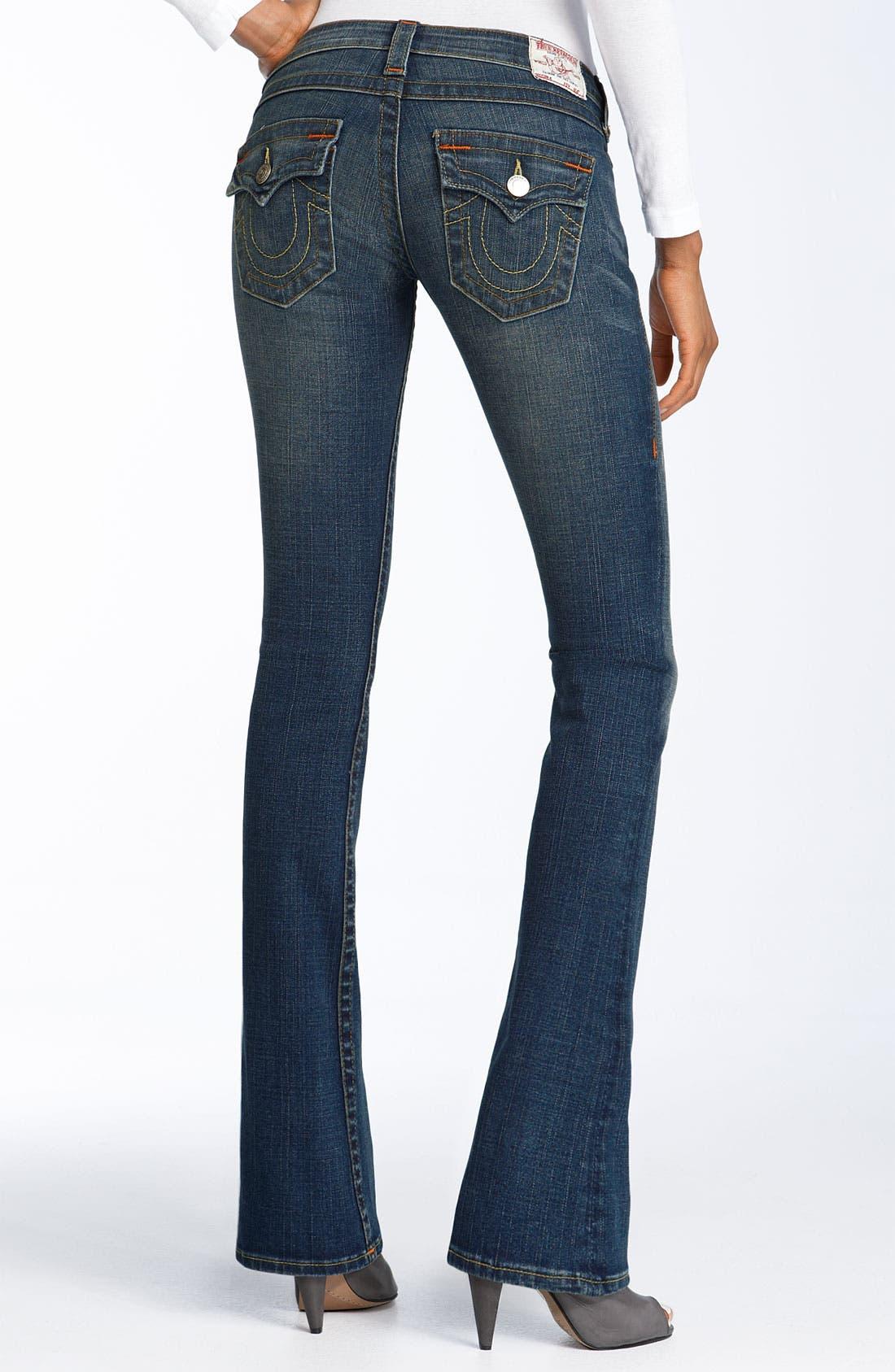'Tony' Lean Bootcut Stretch Jeans,                             Main thumbnail 1, color,                             437